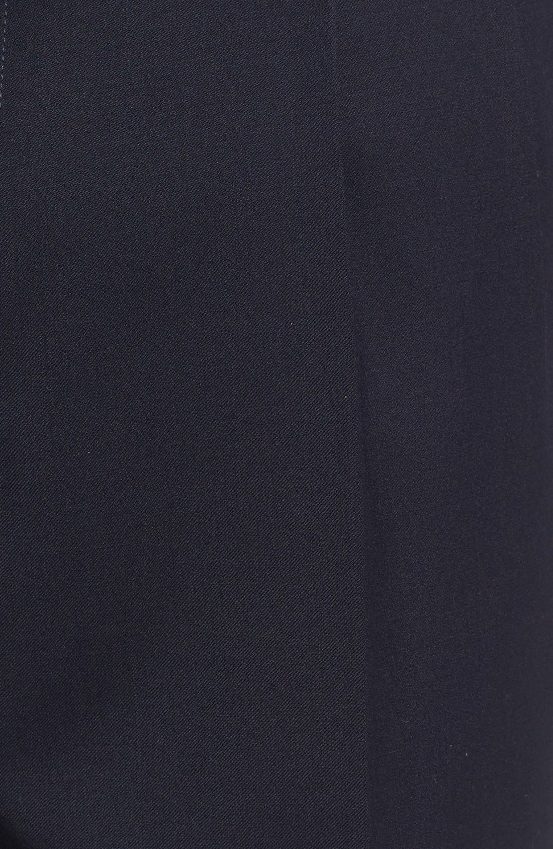 Pleated Solid Wool Trousers,                             Alternate thumbnail 64, color,