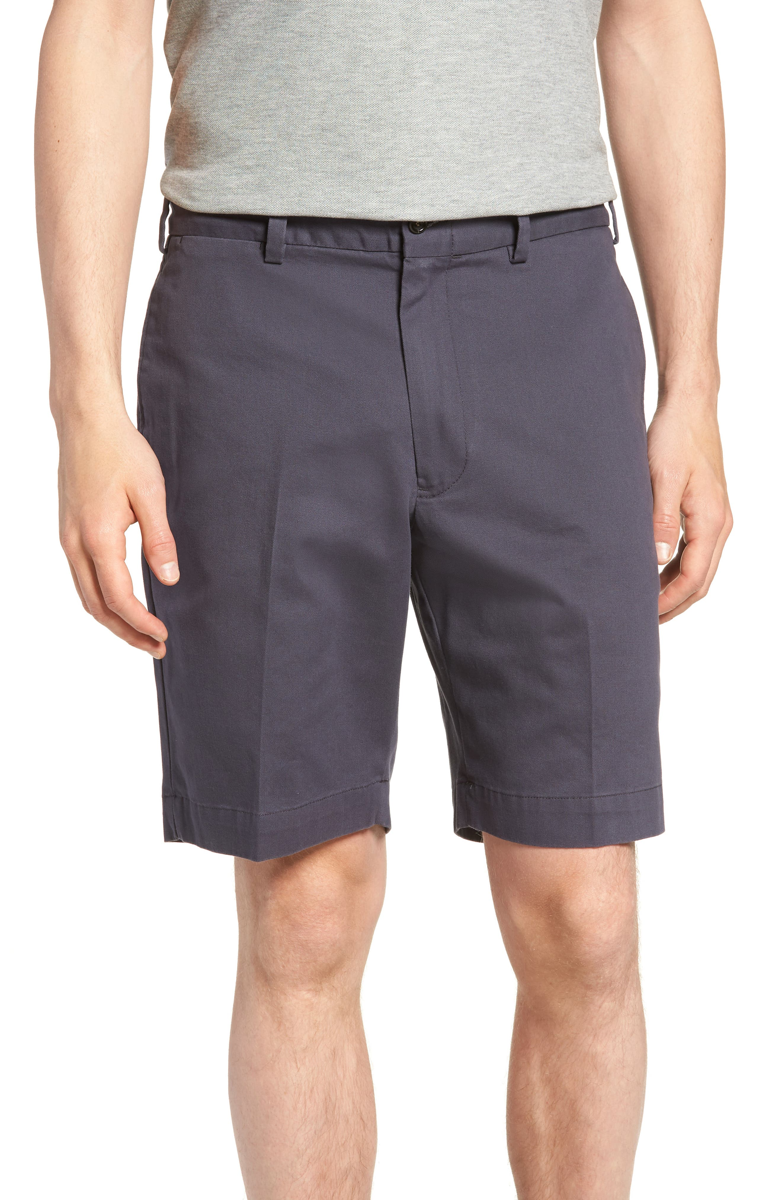 M2 Classic Fit Flat Front Vintage Twill Shorts,                             Main thumbnail 1, color,