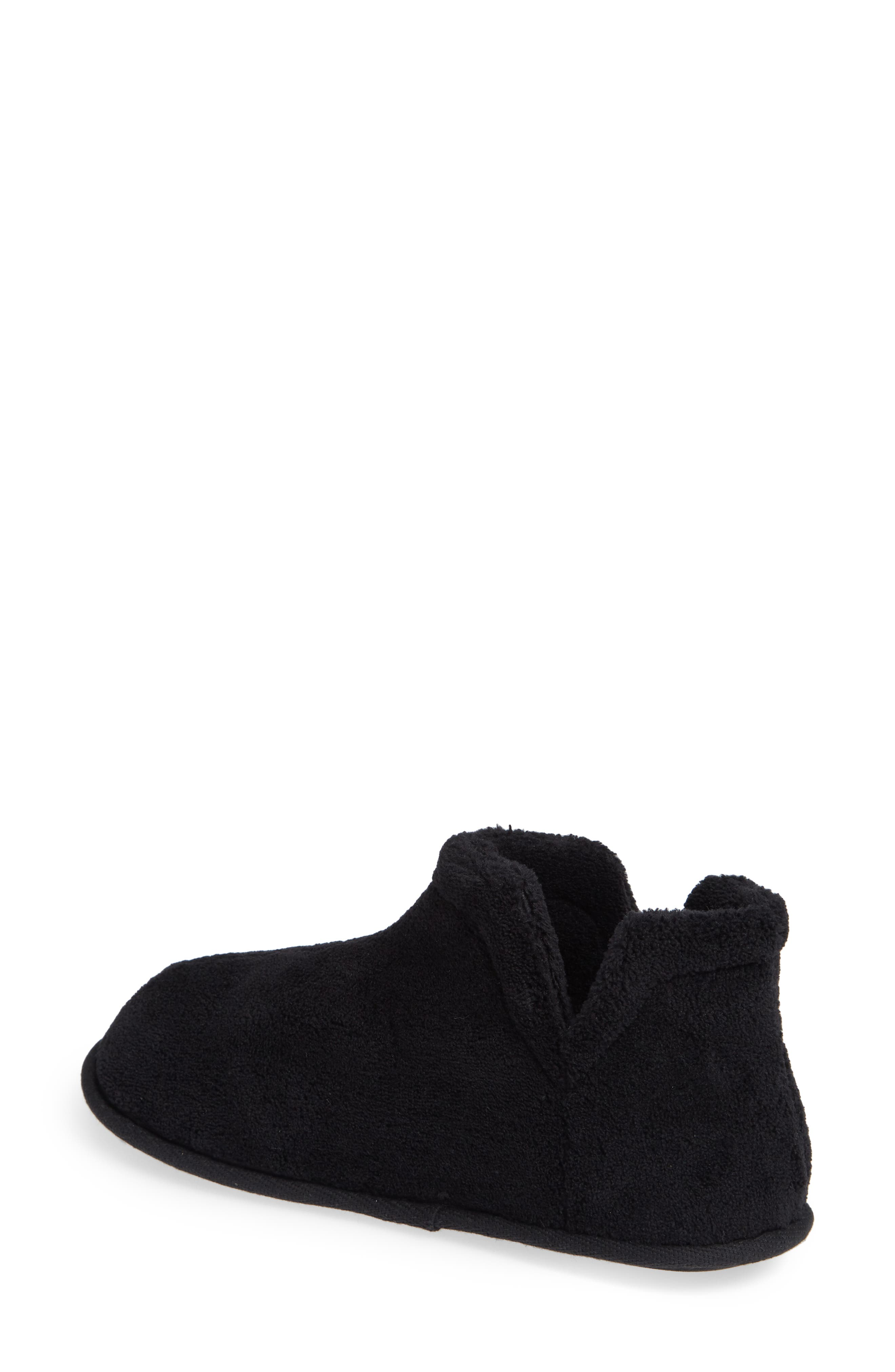 Evalyn Slipper Bootie,                             Alternate thumbnail 2, color,                             BLACK FABRIC