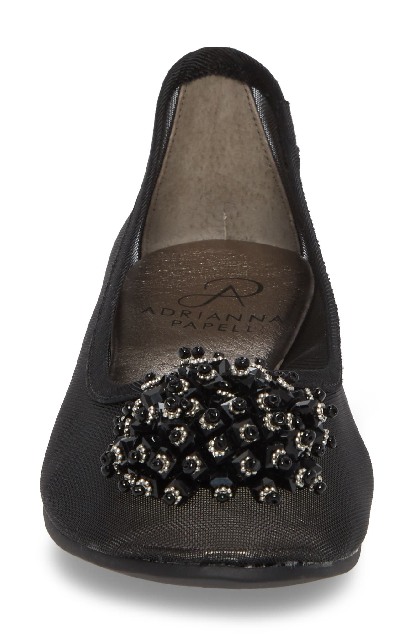 ADRIANNA PAPELL,                             Stevie Embellished Flat,                             Alternate thumbnail 4, color,                             001