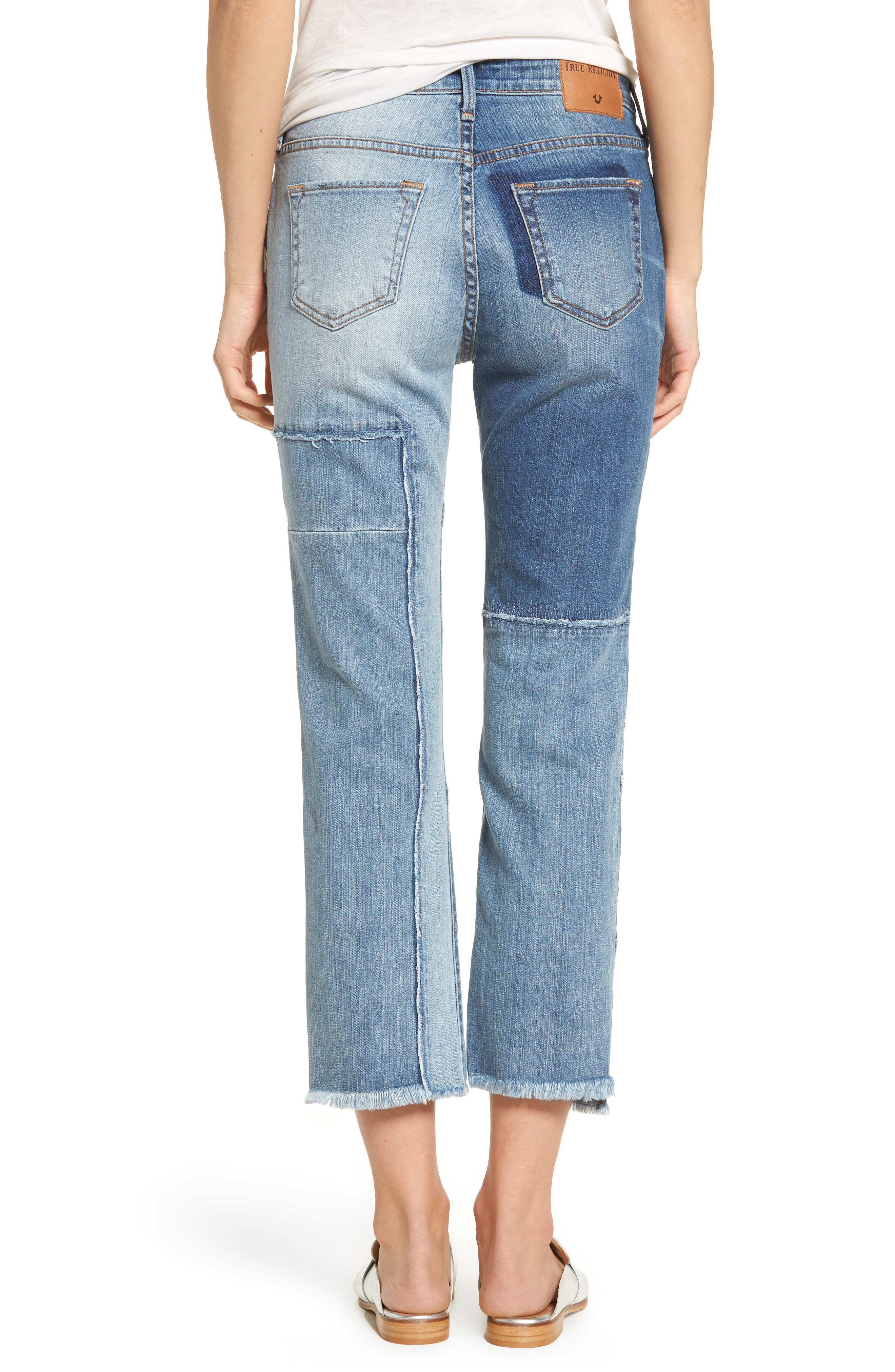 Stovepipe High Waist Crop Jeans,                             Alternate thumbnail 2, color,                             401