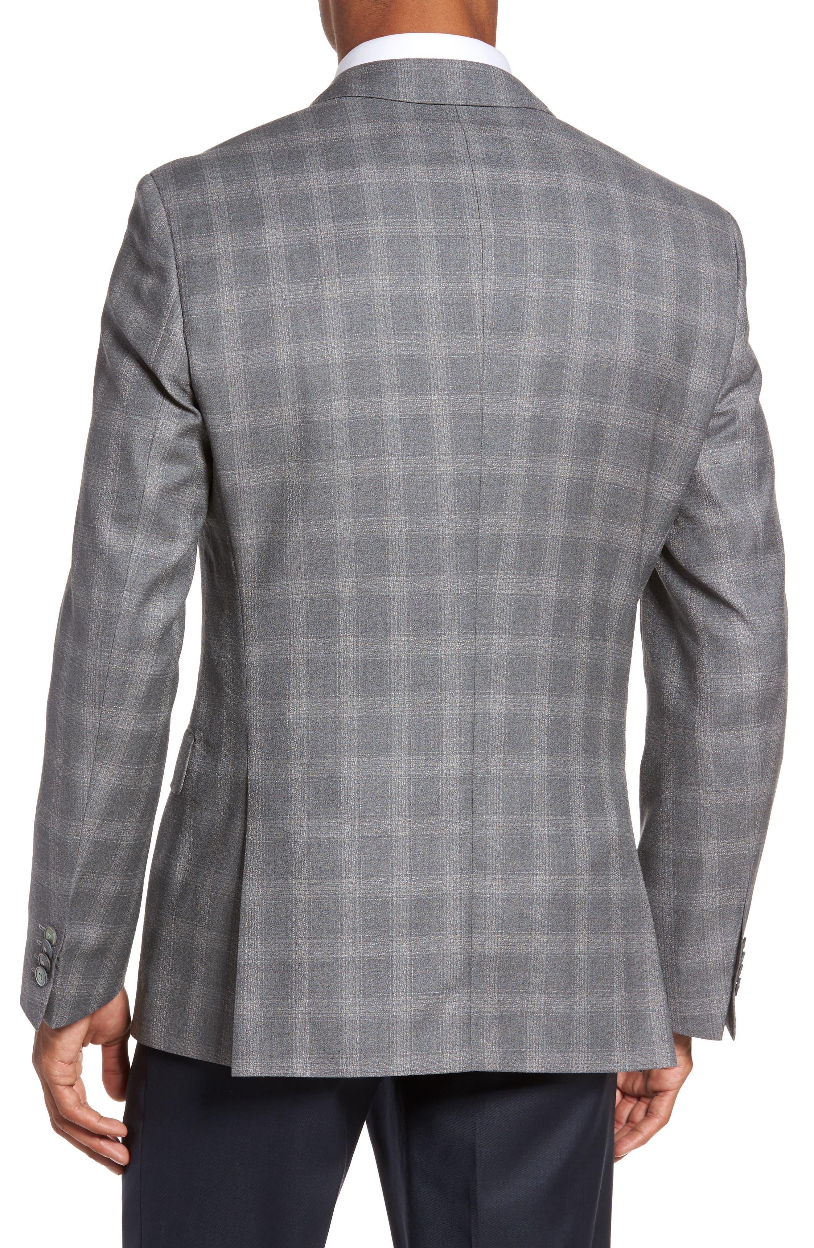 Hutsons Classic Fit Check Sport Coat,                             Alternate thumbnail 2, color,
