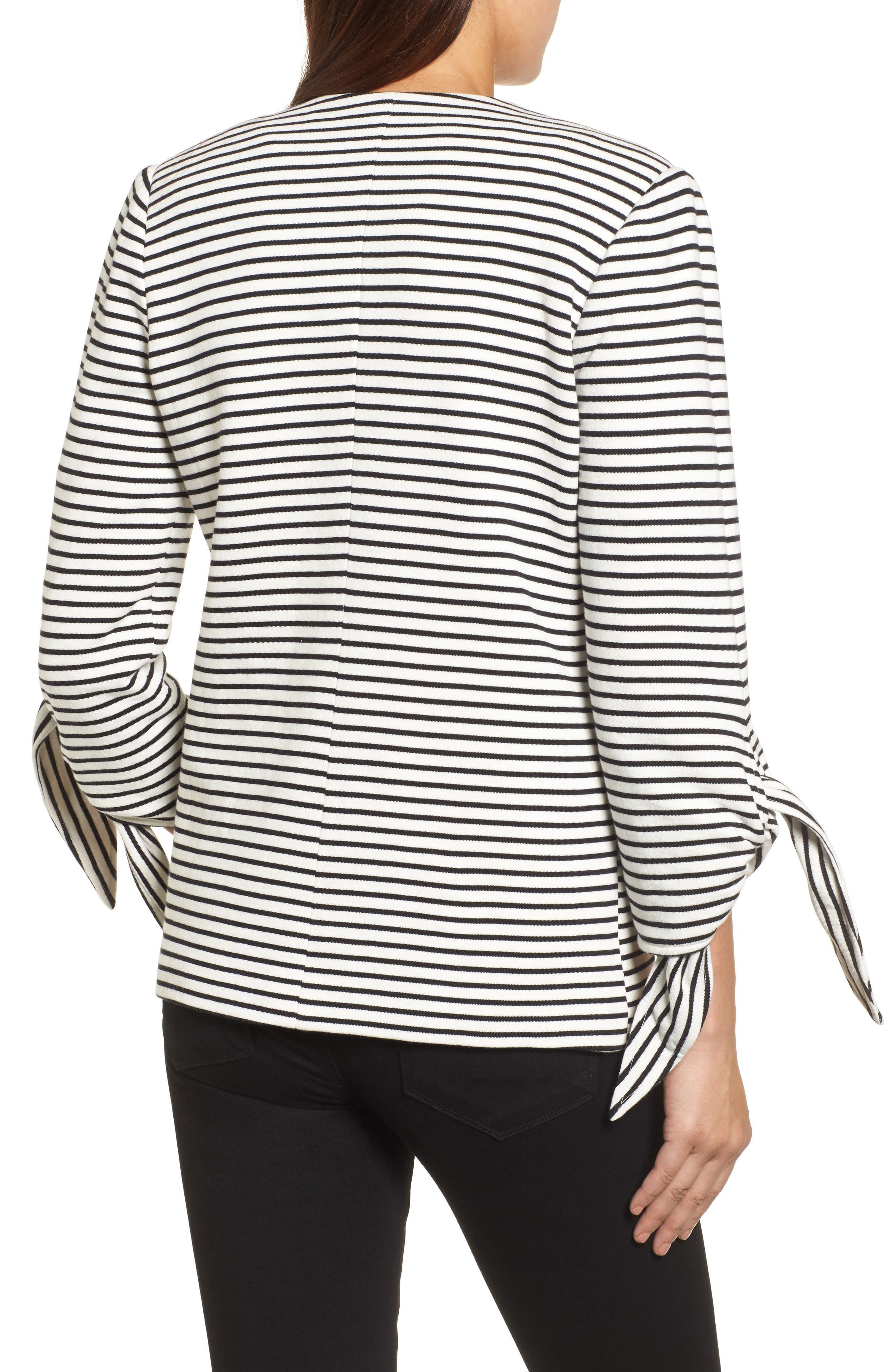 Tie Sleeve Knit Blazer,                             Alternate thumbnail 2, color,                             008