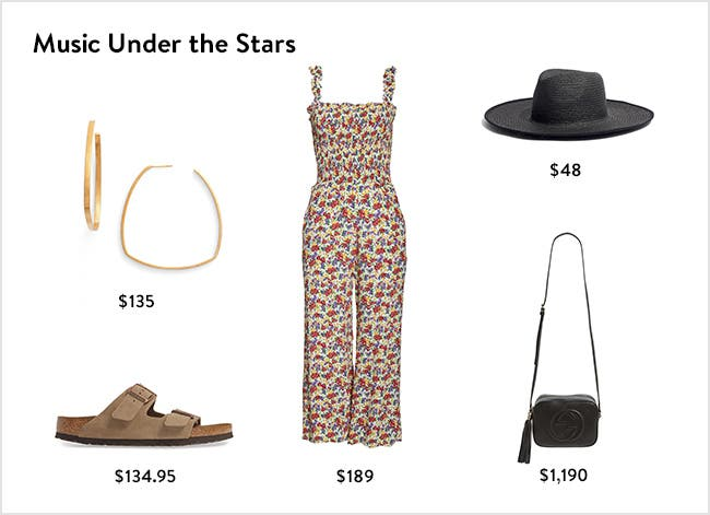 Music under the stars: women's summer concert clothing, accessories, shoes and more.