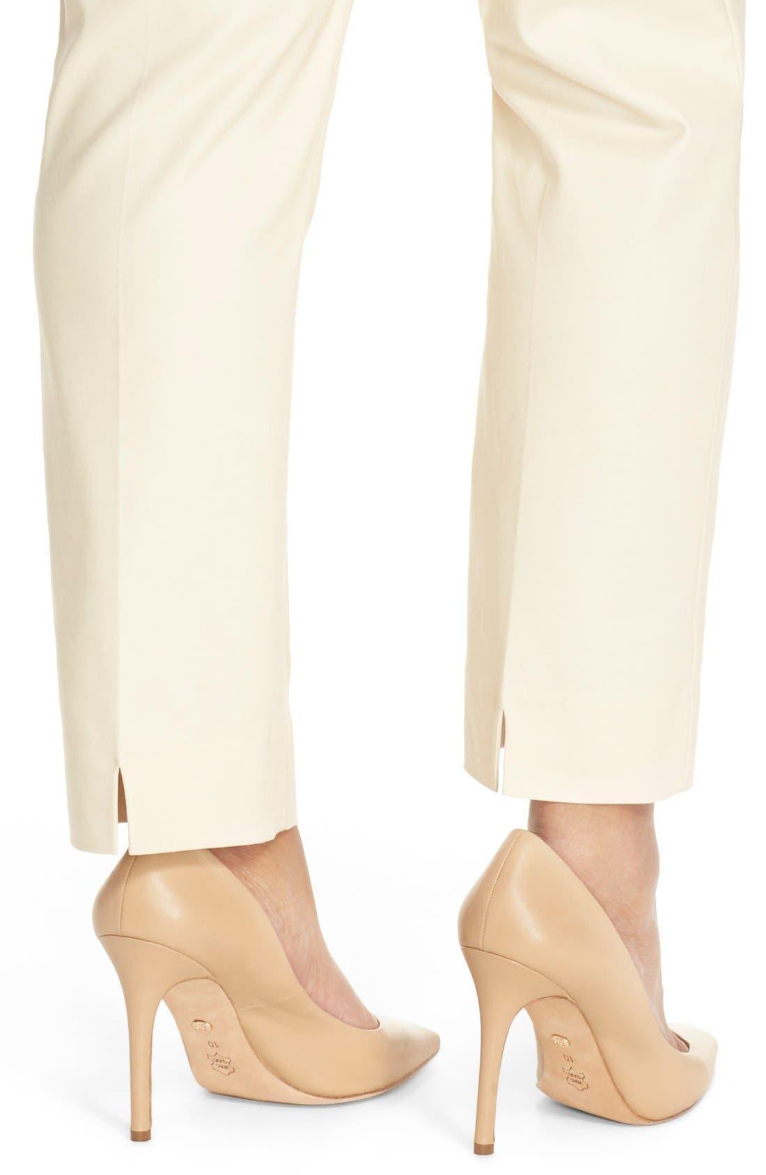 'Perfect' High Rise Side Zip Pants,                             Alternate thumbnail 4, color,                             SANDSHELL