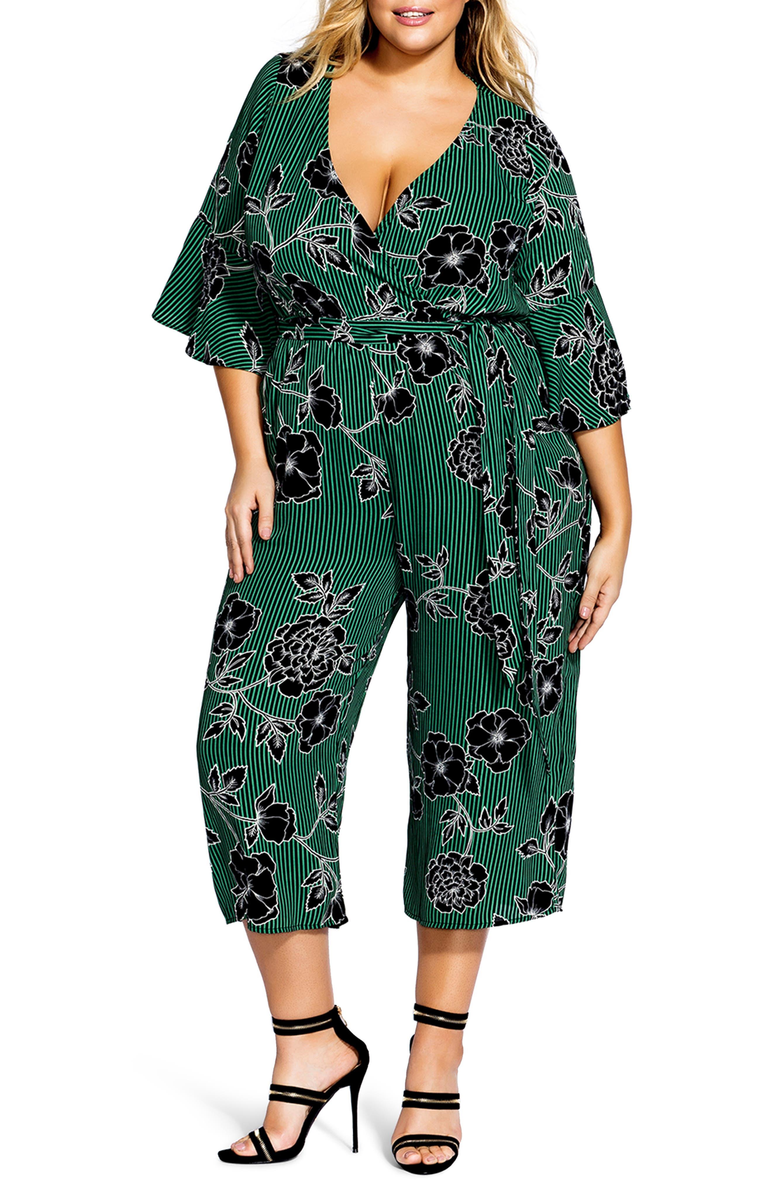 Floral Print Jumpsuit,                             Alternate thumbnail 2, color,                             VARSITY FLORAL