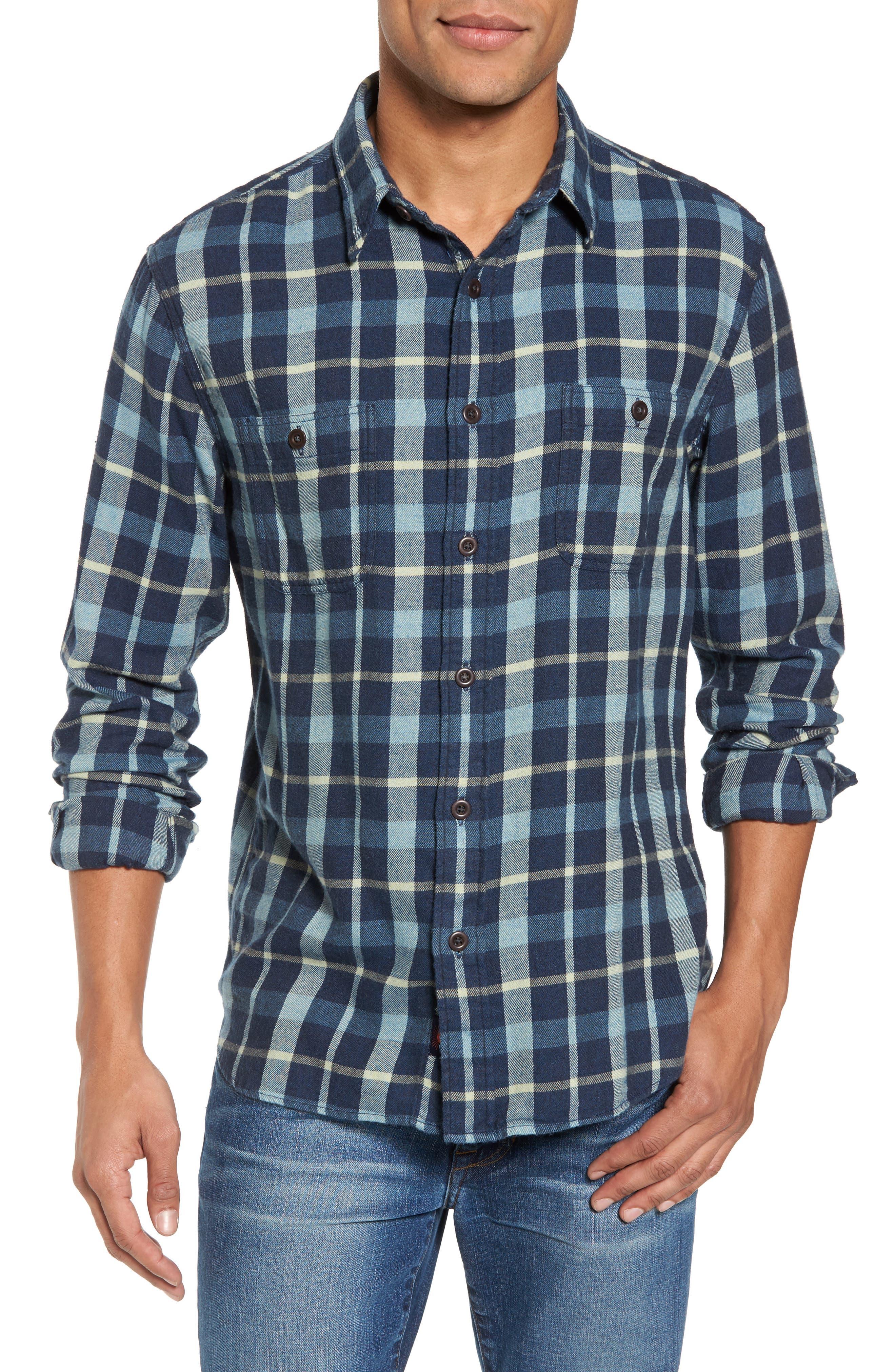 Seasons Plaid Sport Shirt,                         Main,                         color, 405