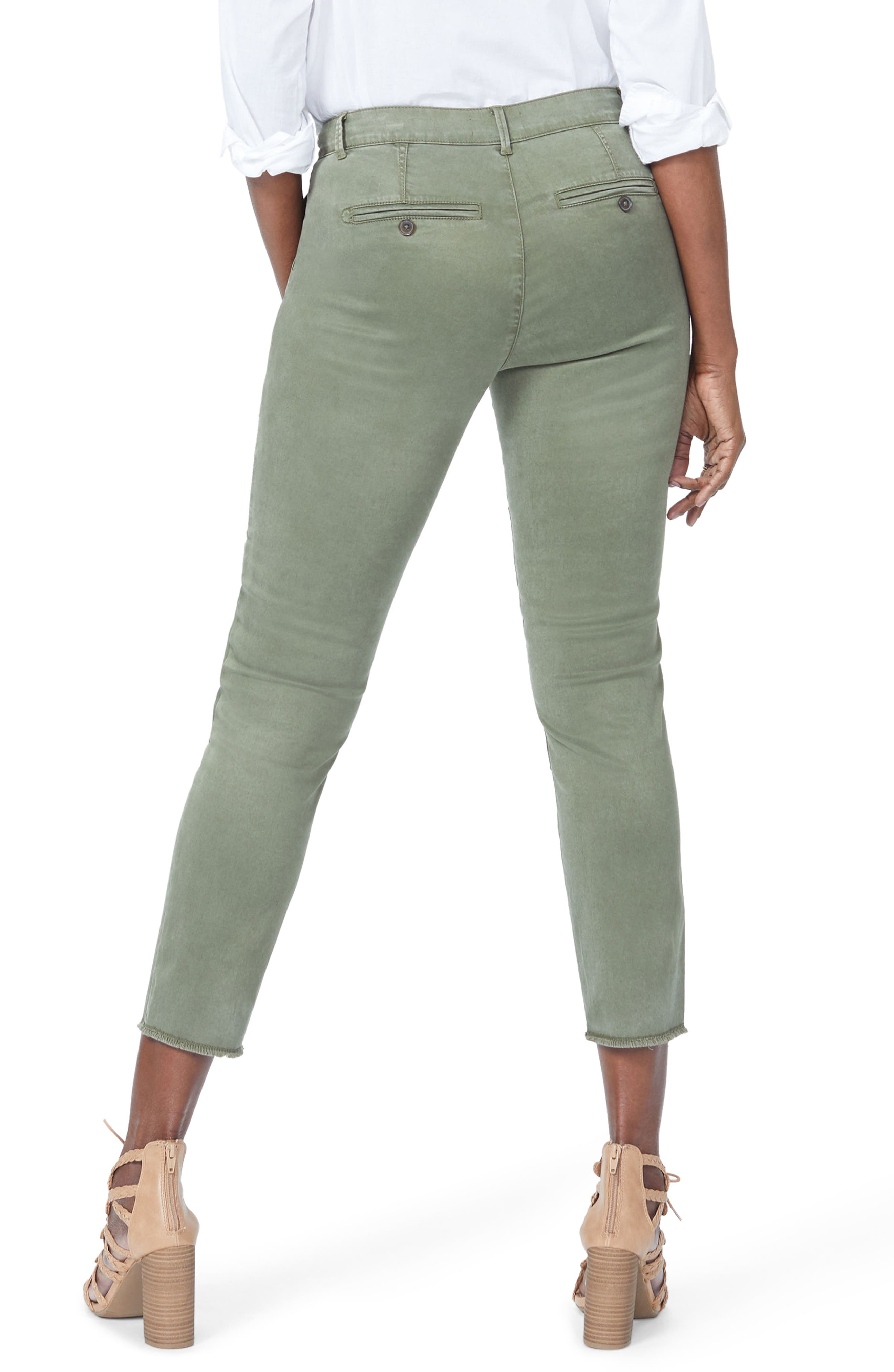 Reverse Patch Skinny Chino Pants,                             Alternate thumbnail 2, color,                             OLIVE