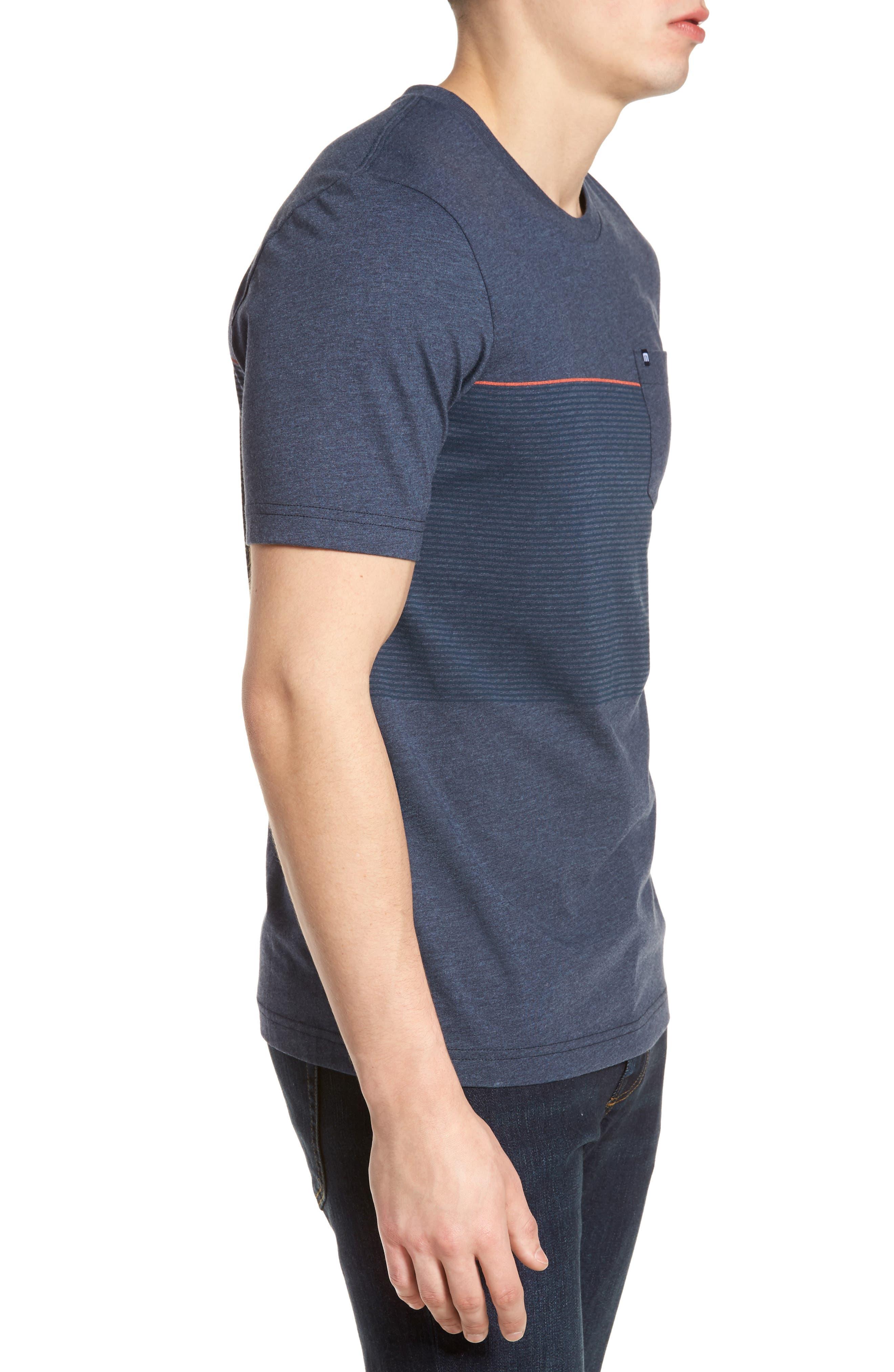 Jeramie Stripe Pocket T-Shirt,                             Alternate thumbnail 3, color,                             401