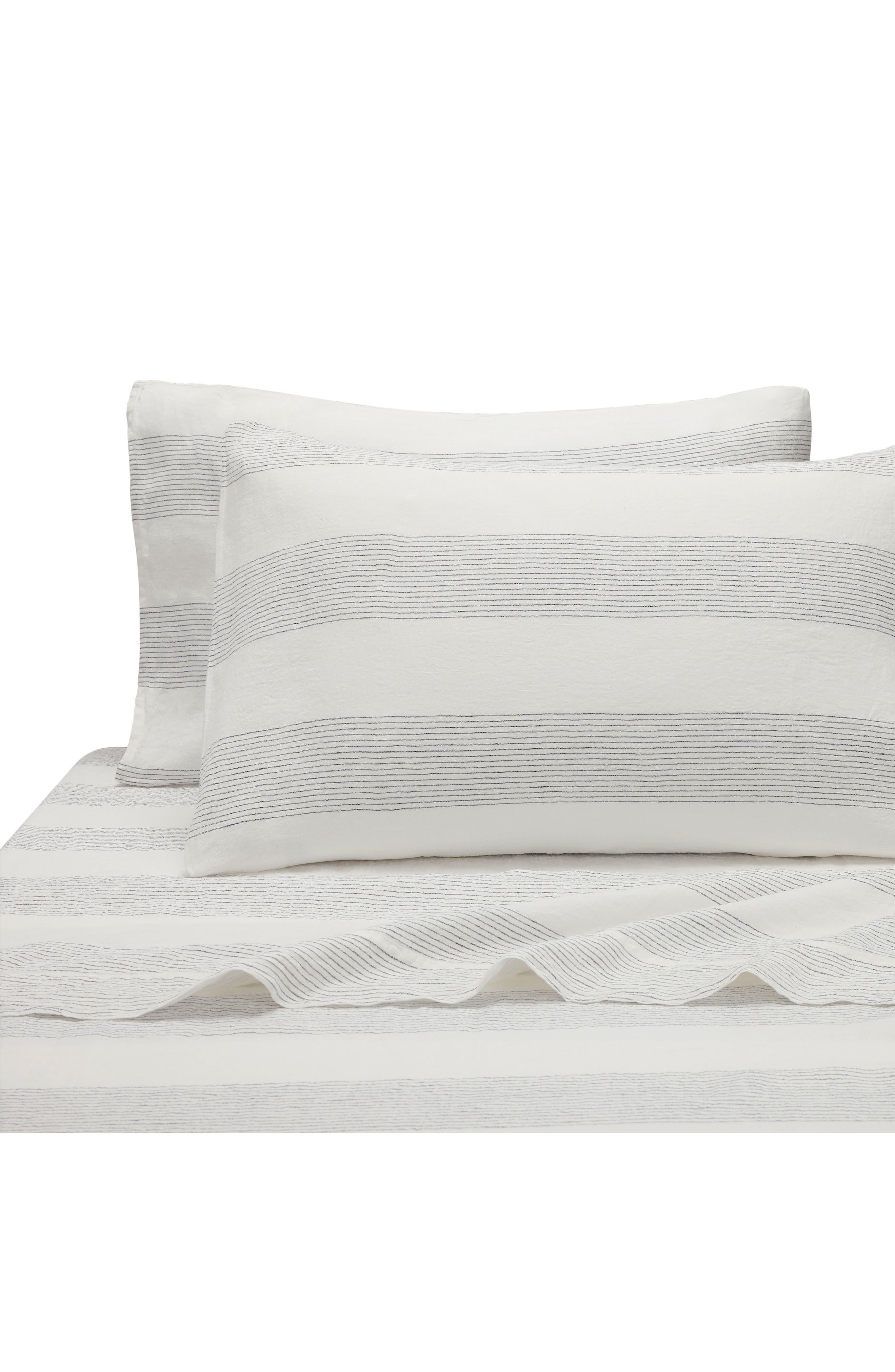 Amagansett Linen 300 Thread Count Pillowcase,                             Main thumbnail 1, color,                             100
