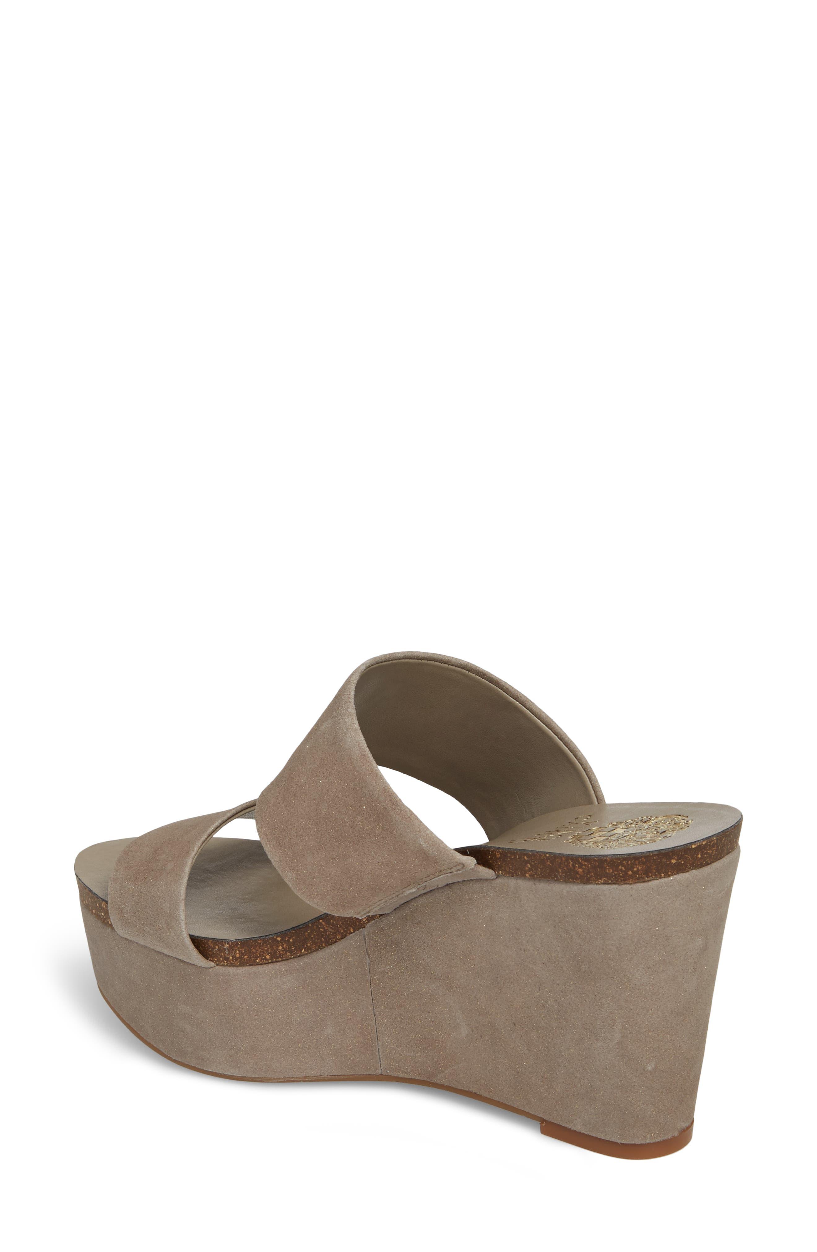 Varenia Platform Wedge Sandal,                             Alternate thumbnail 2, color,                             SILVER GREY FABRIC