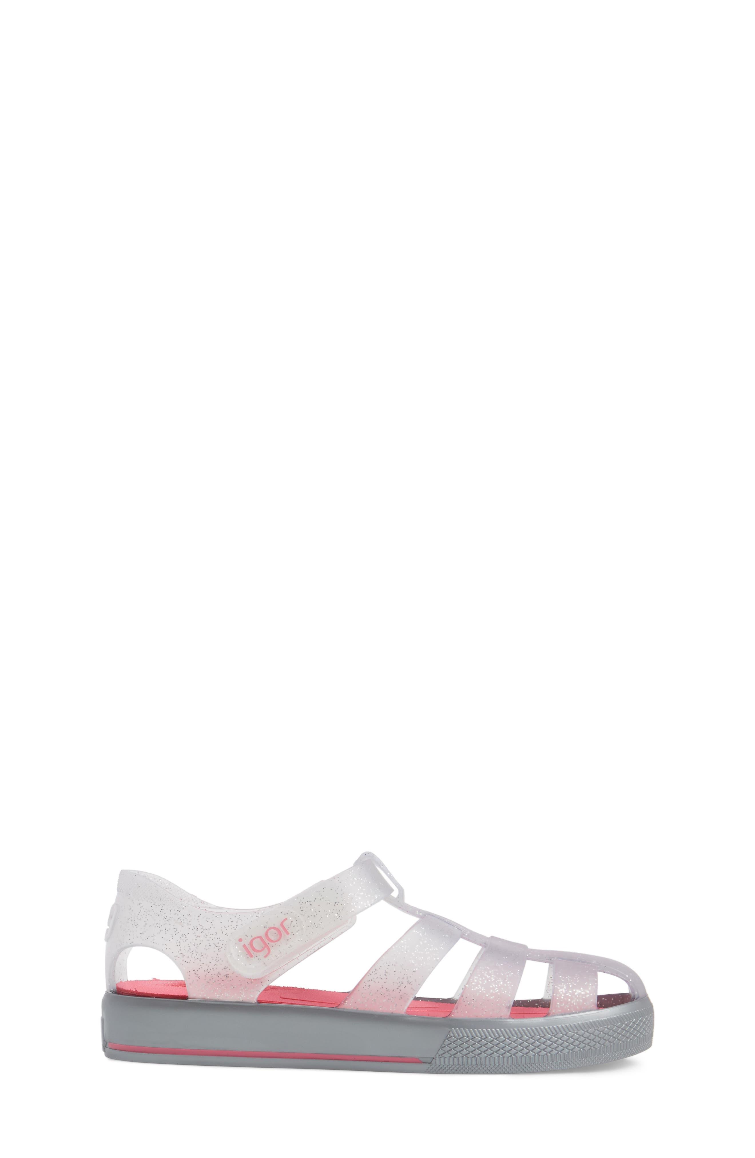 'Star' Glitter Jelly Fisherman Sandal,                             Alternate thumbnail 19, color,