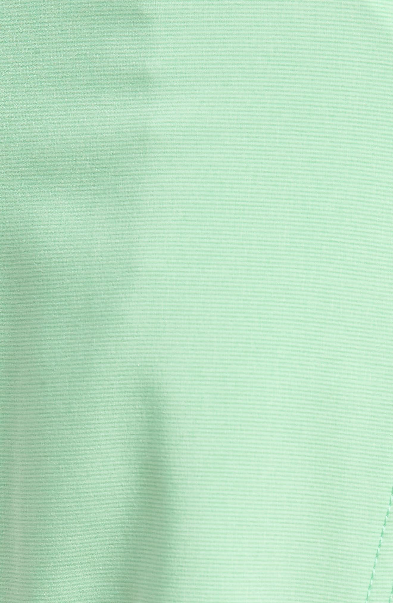 Lido Mod Board Shorts,                             Alternate thumbnail 5, color,                             POISON GREEN