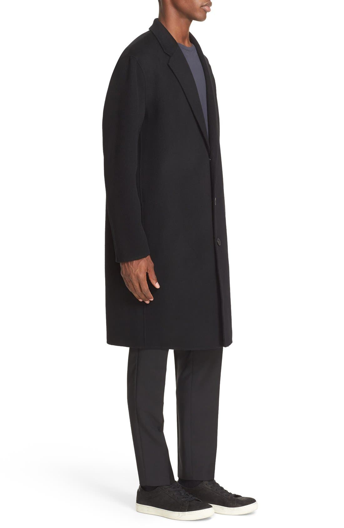 Charles Wool & Cashmere Coat,                             Alternate thumbnail 3, color,                             001