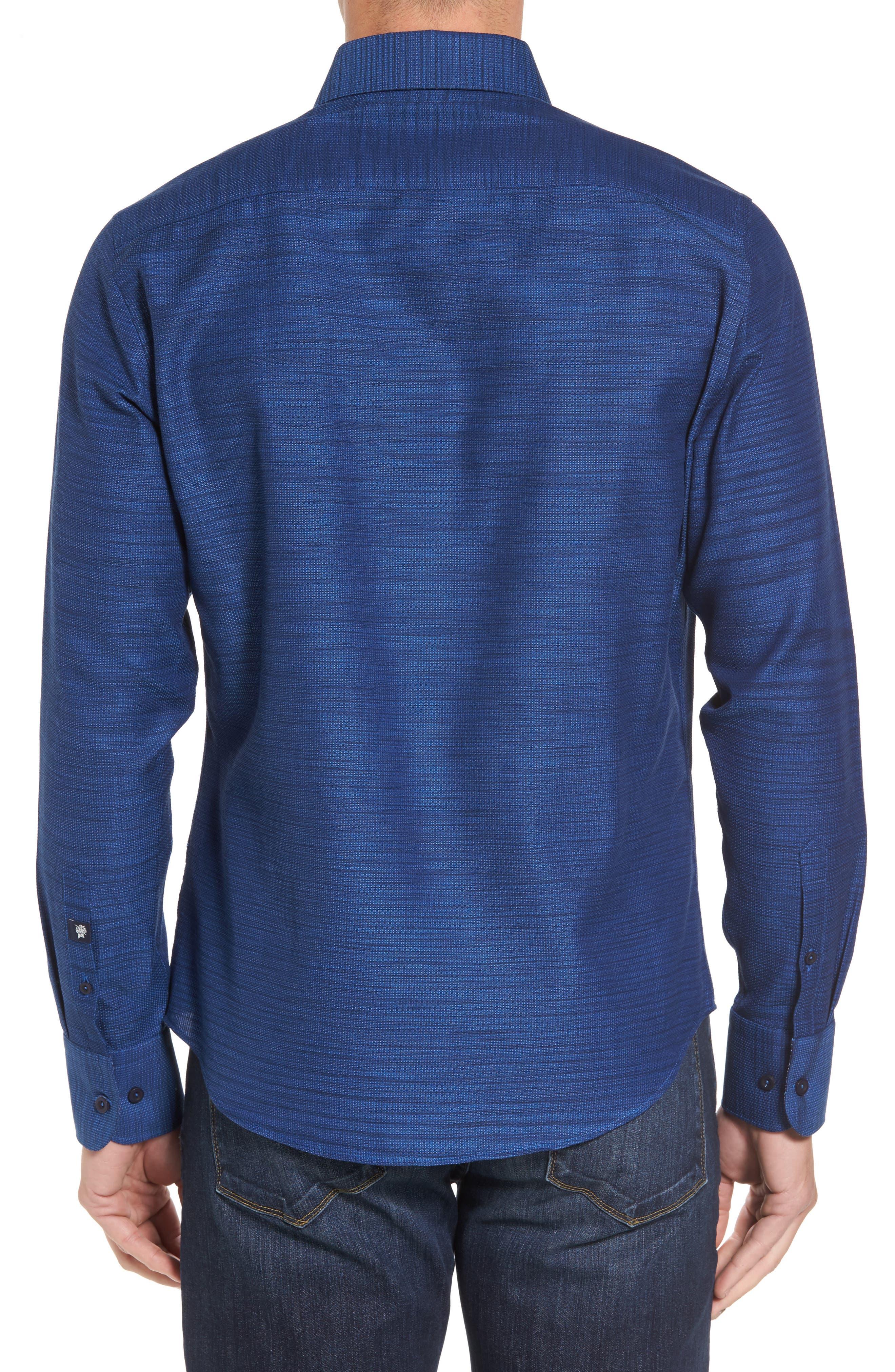 Slim Fit Mélange Textured Sport Shirt,                             Alternate thumbnail 2, color,                             430