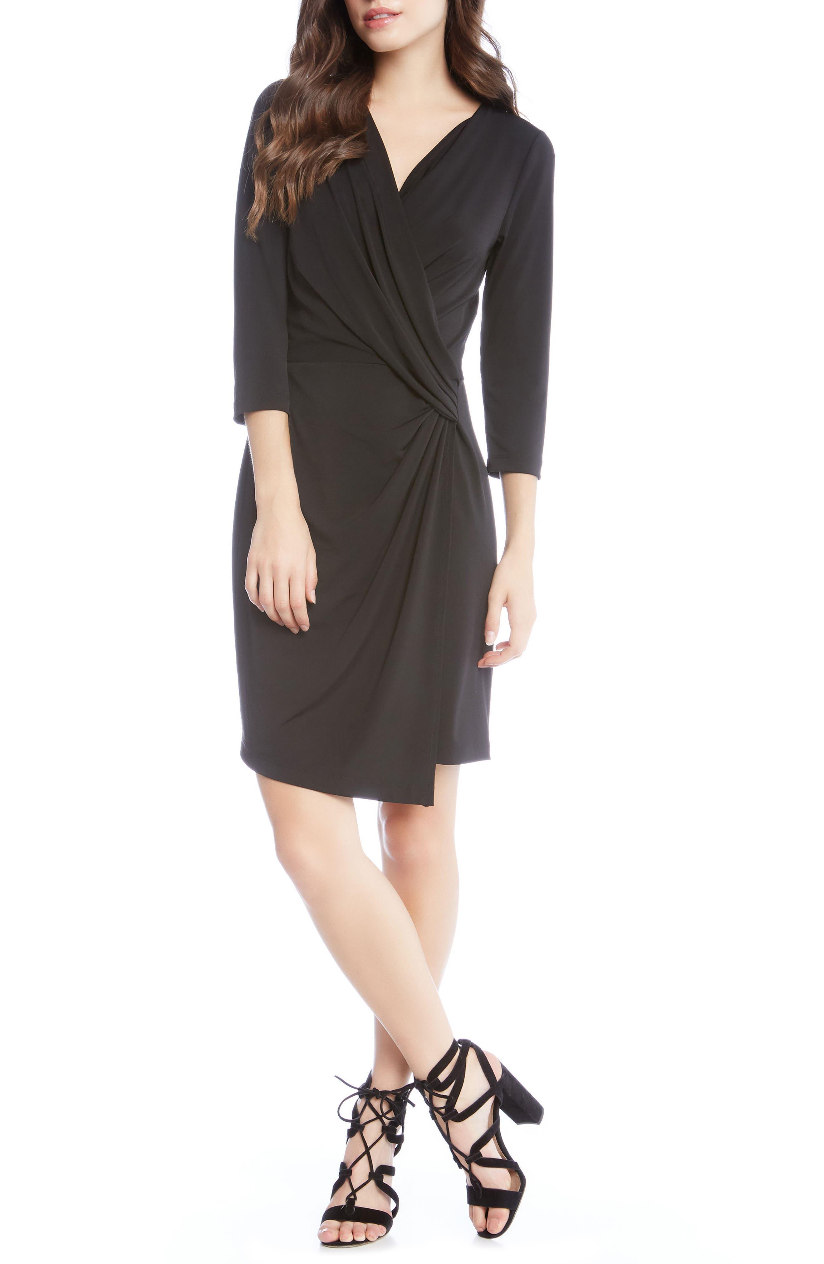 Faux Wrap Dress,                         Main,                         color,