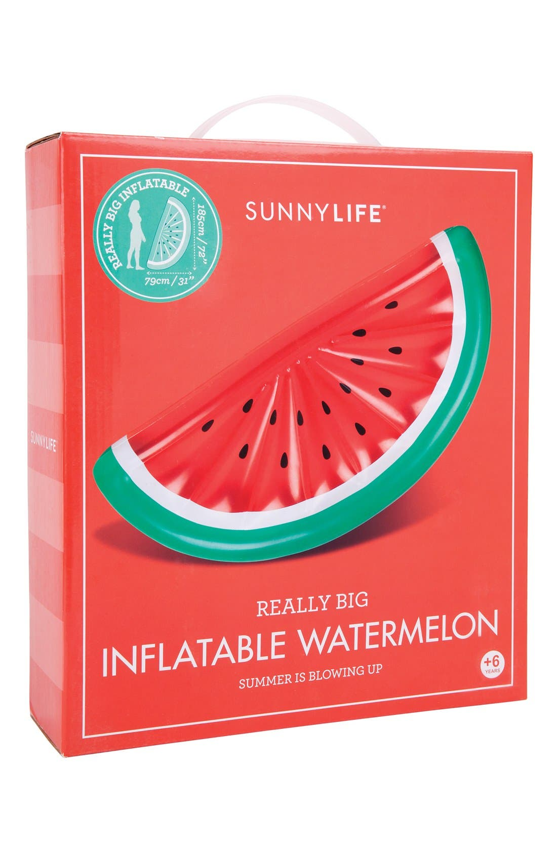 'Really Big' Inflatable Watermelon Pool Float,                             Alternate thumbnail 5, color,