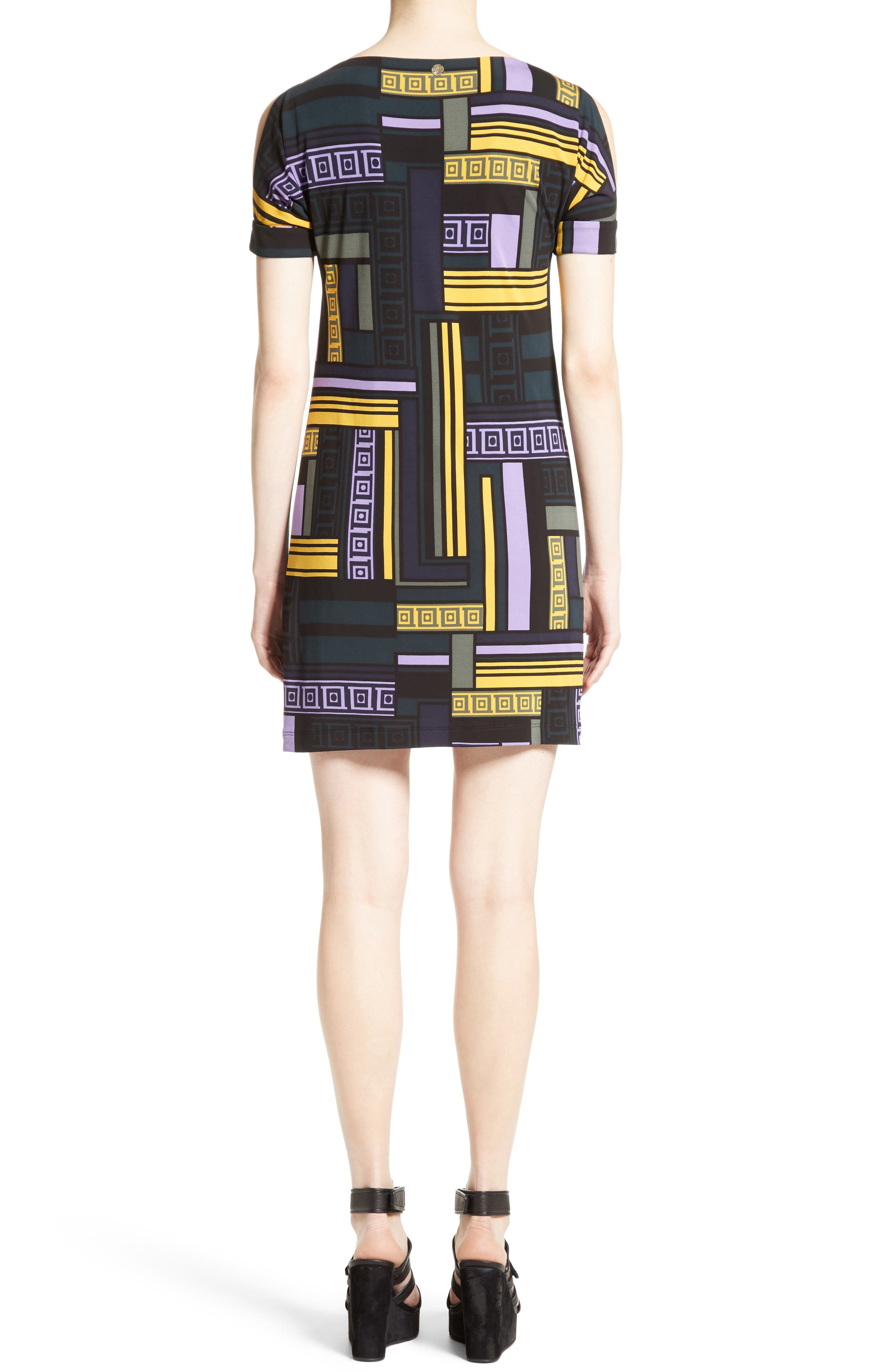 Cold Shoulder Print Jersey Dress,                             Alternate thumbnail 2, color,                             512