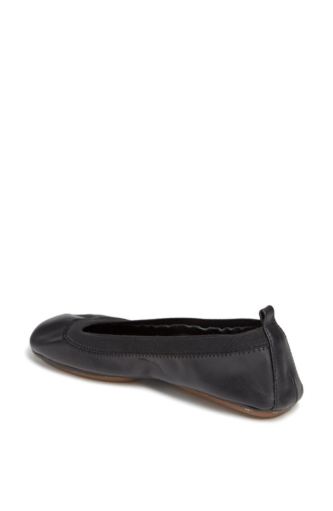 Foldable Ballet Flat,                             Alternate thumbnail 3, color,                             001