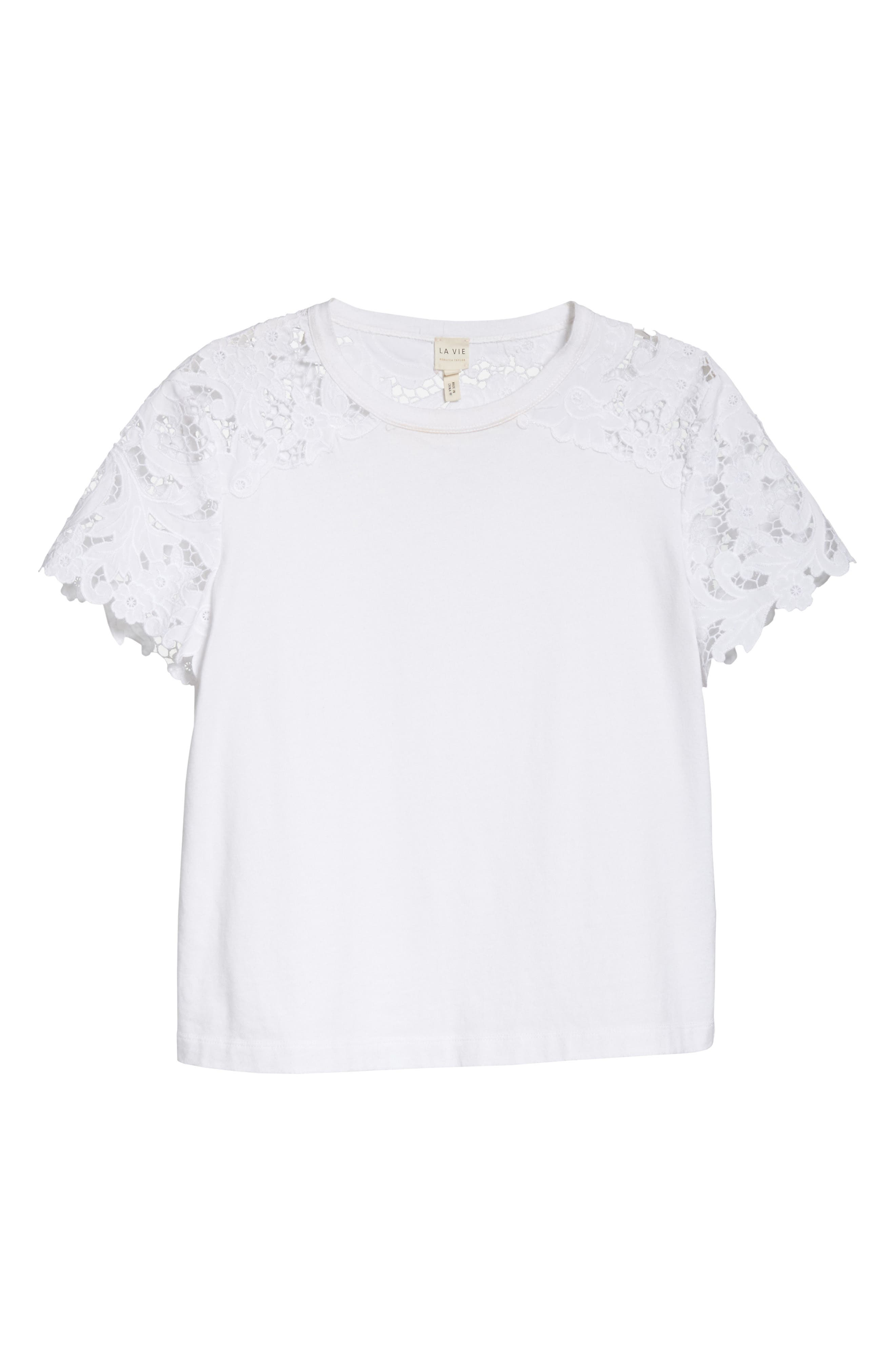 Lace Detail Tee,                             Alternate thumbnail 11, color,