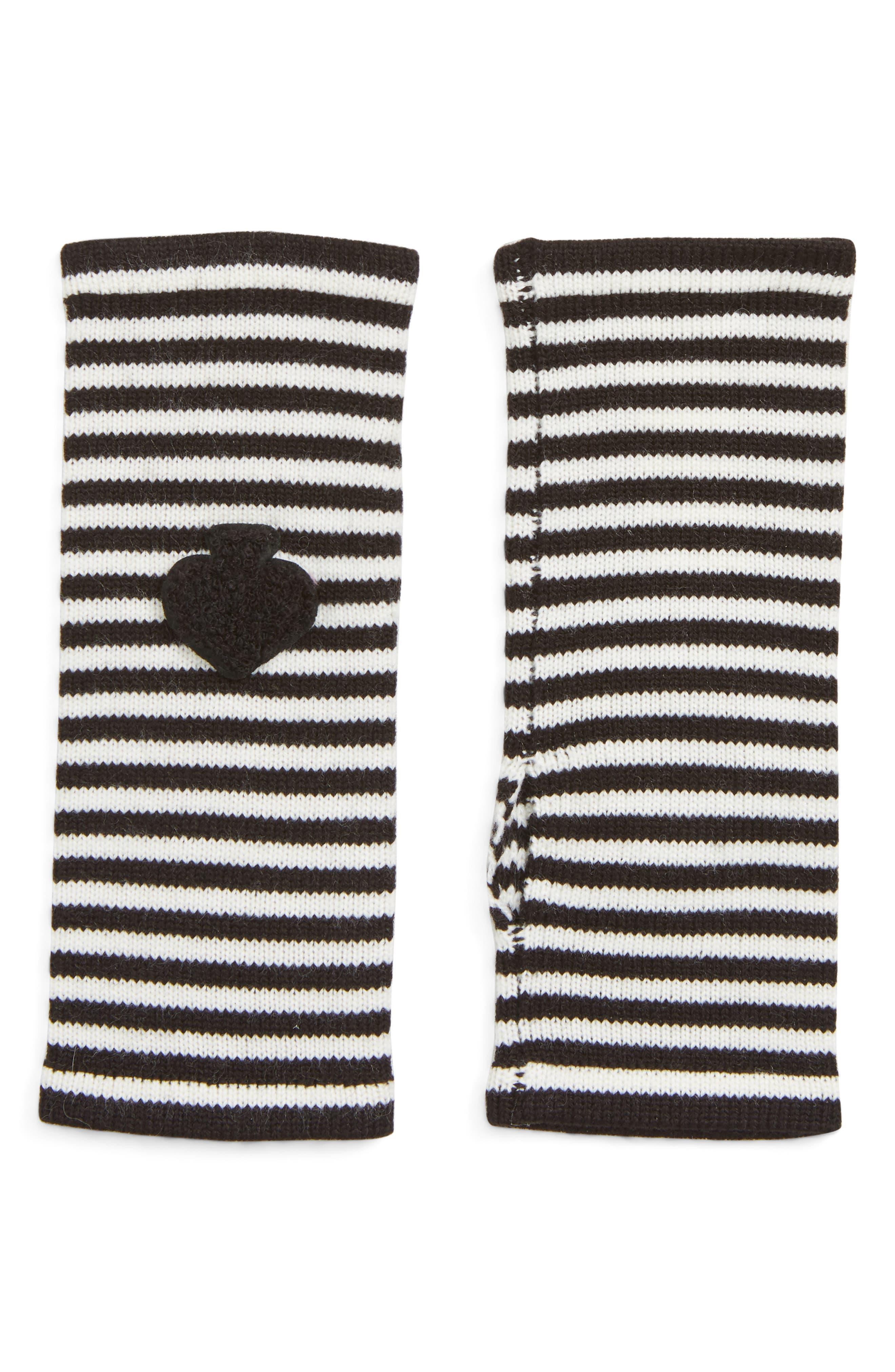 stripe arm warmers,                             Main thumbnail 1, color,                             001