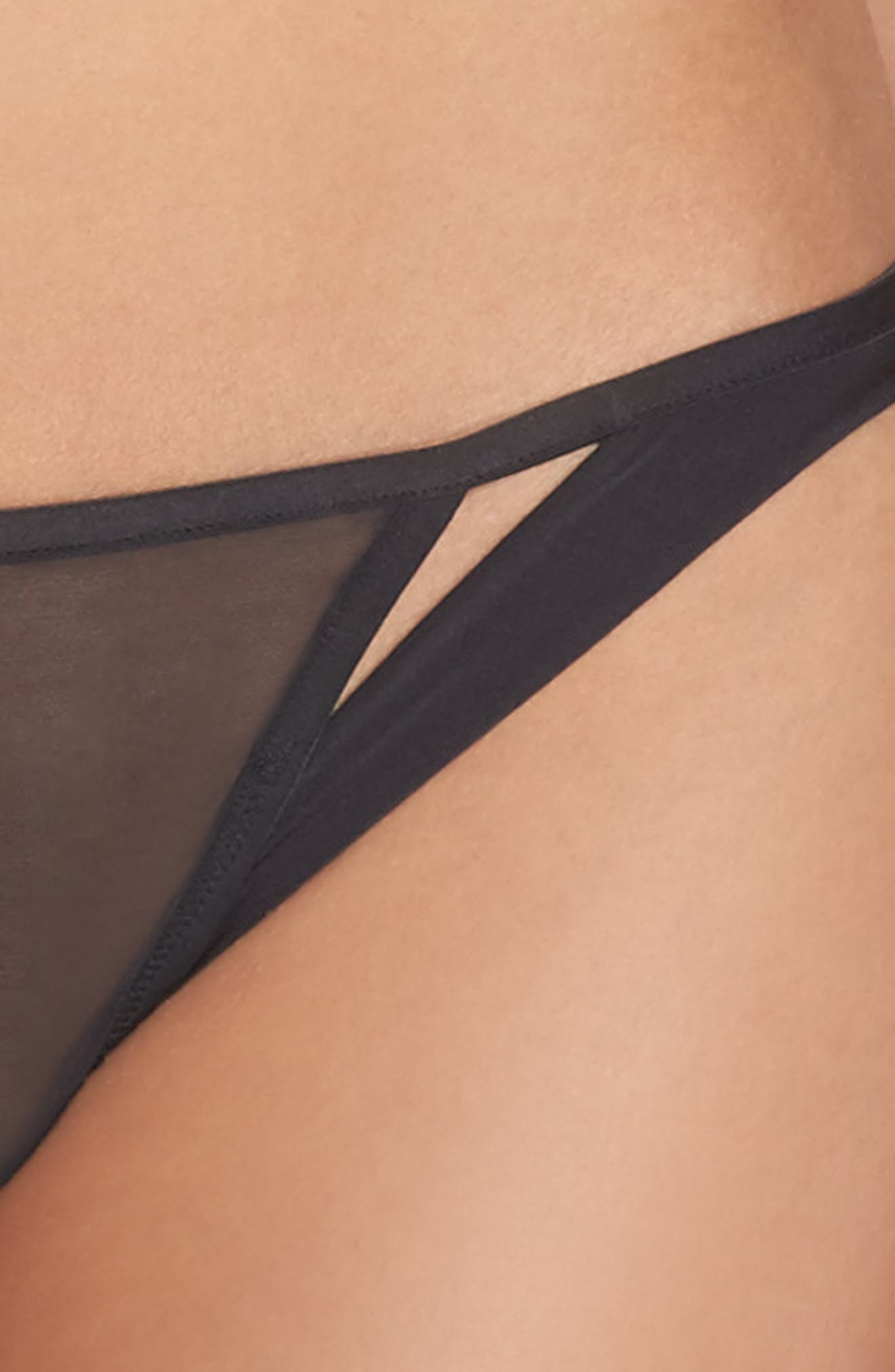 Lace Thong,                             Alternate thumbnail 4, color,                             001