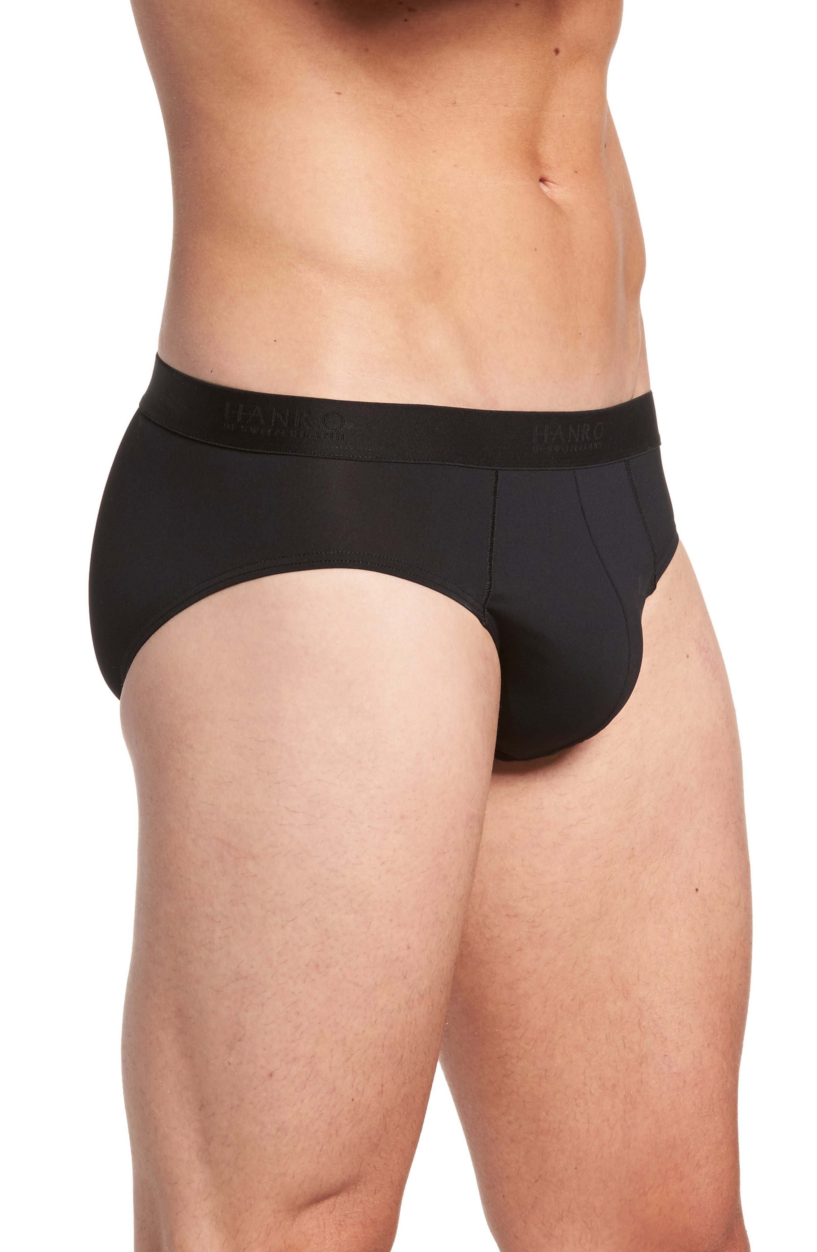 Micro Touch Briefs,                             Alternate thumbnail 3, color,                             BLACK