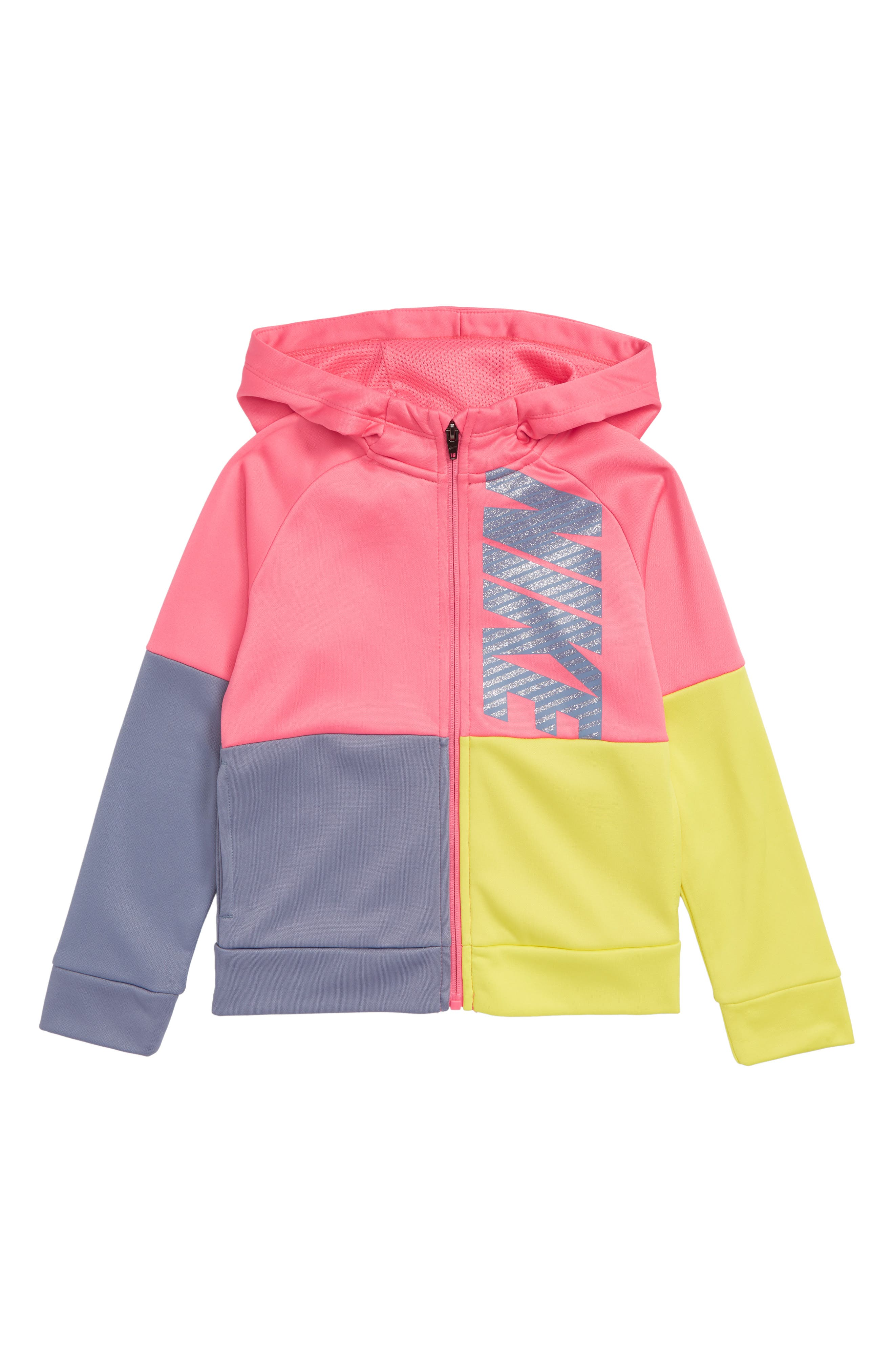 Therma Hooded Colorblock Jacket,                             Main thumbnail 2, color,