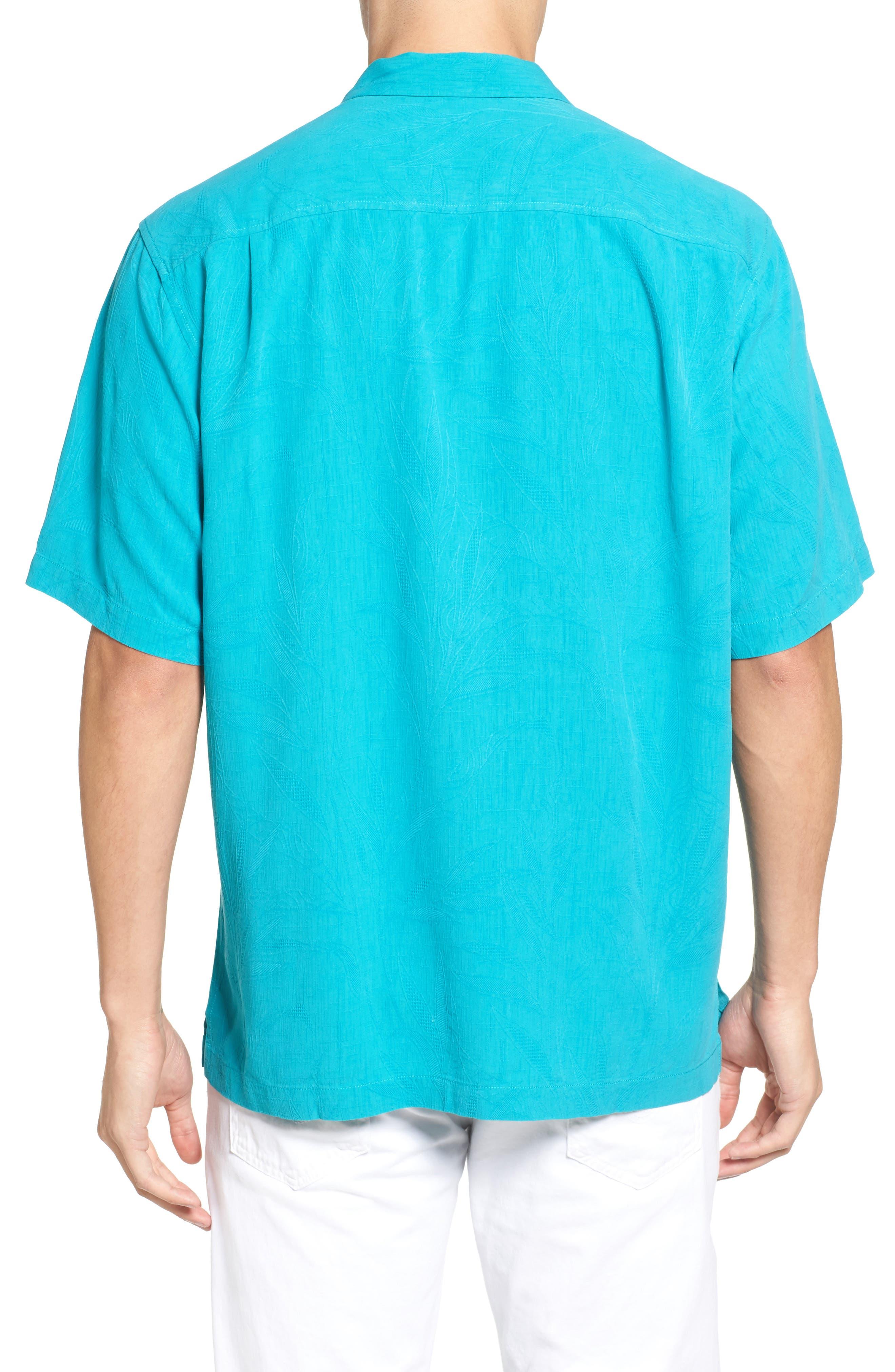 Islander Fronds Silk Camp Shirt,                             Alternate thumbnail 15, color,