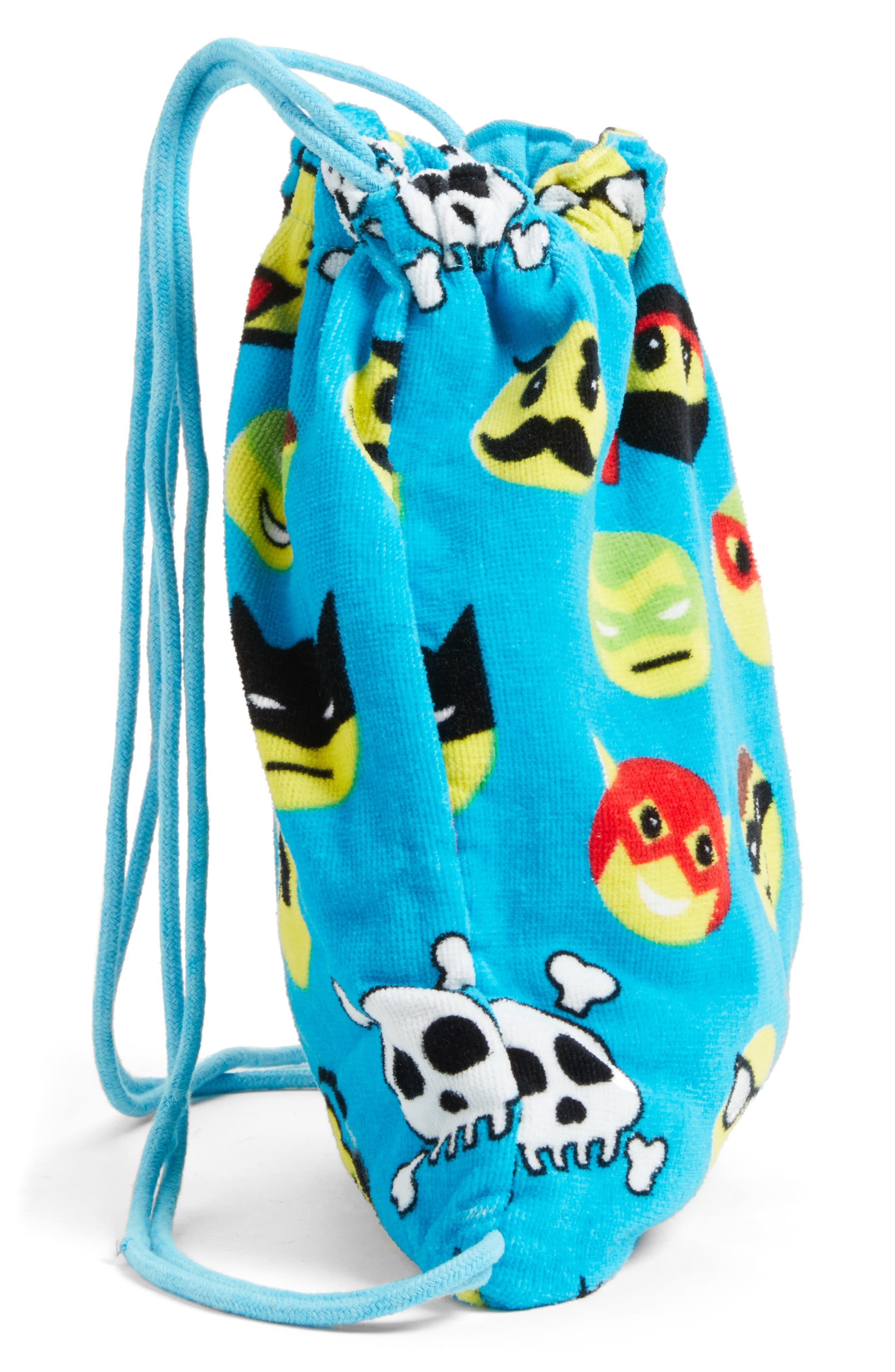 Emoji Towel Drawstring Bag,                             Alternate thumbnail 2, color,                             401
