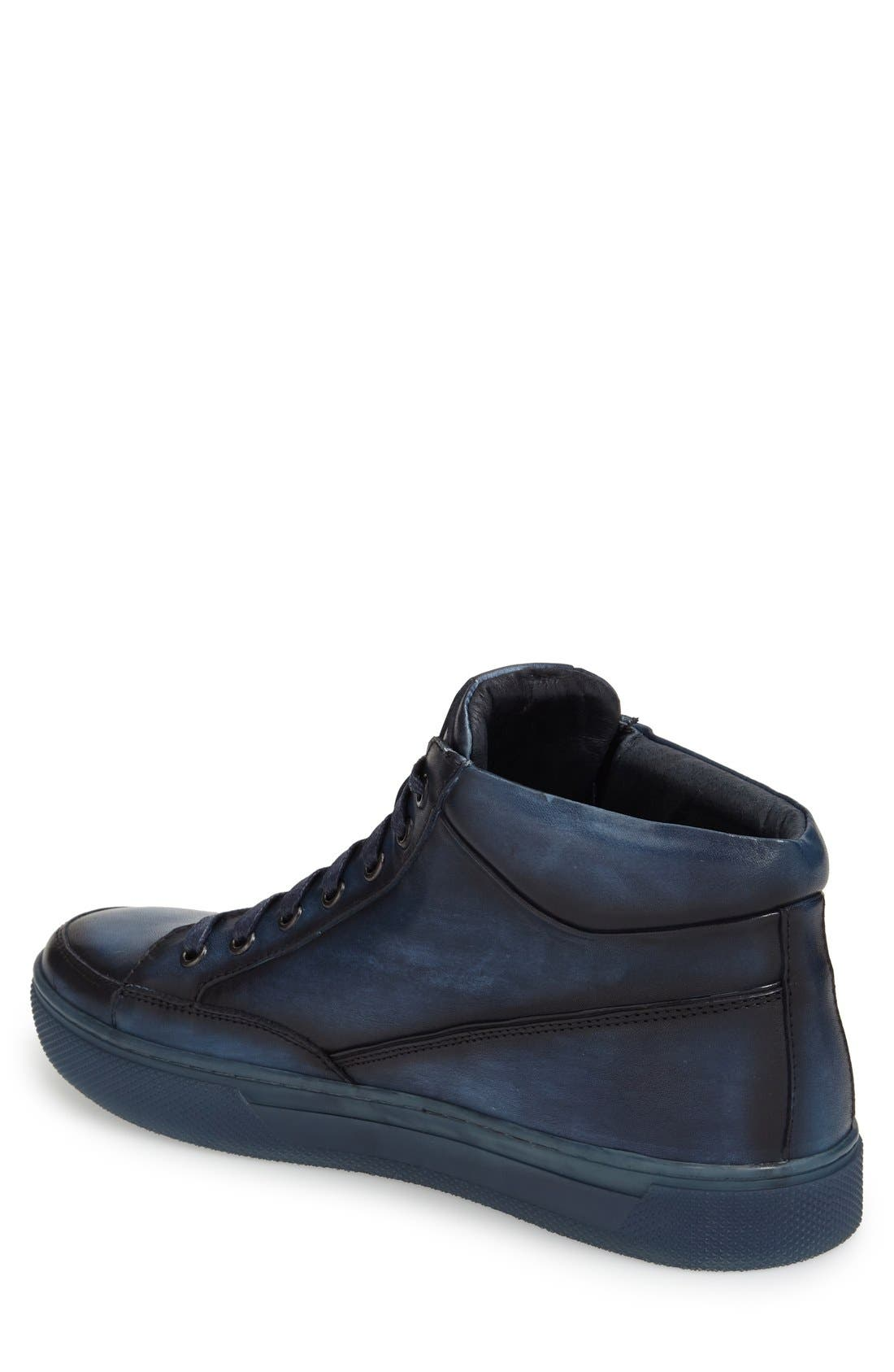 'Strickland' Sneaker,                             Alternate thumbnail 2, color,                             NAVY LEATHER