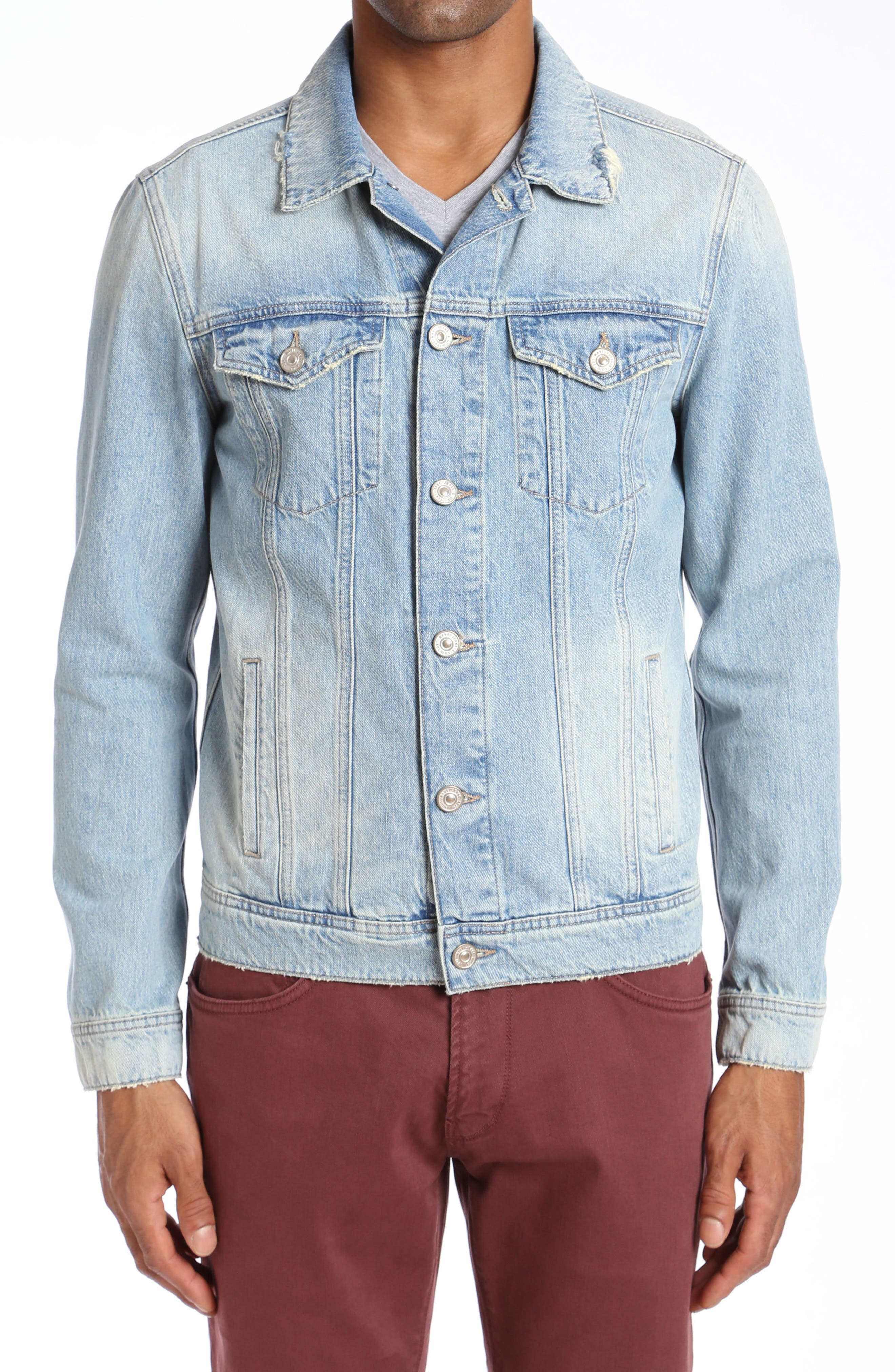 Frank Denim Jacket,                             Main thumbnail 1, color,                             BLEACH VINTAGE RIGID