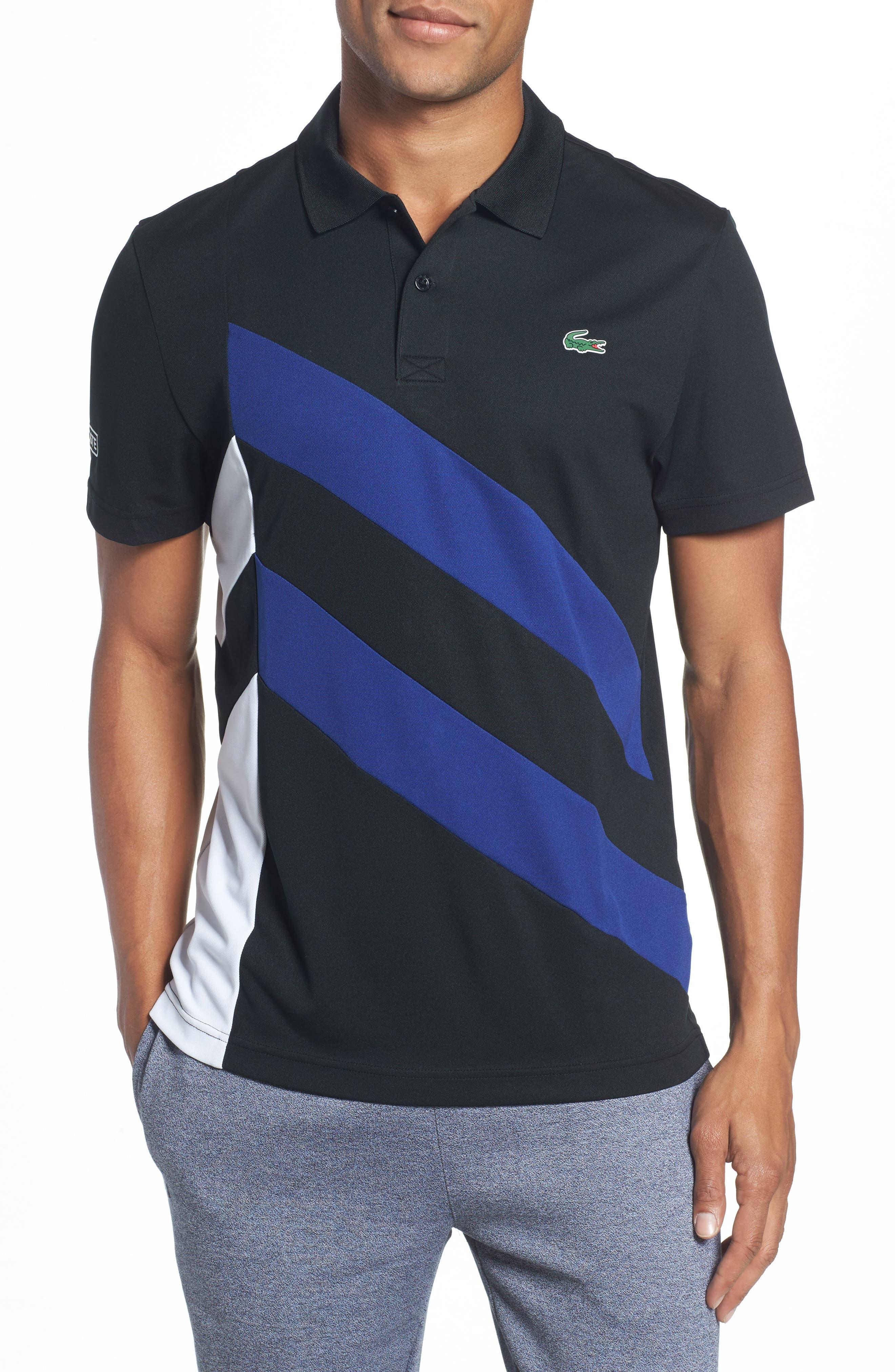 Asymmetrical Colorblocked Polo,                         Main,                         color, 008