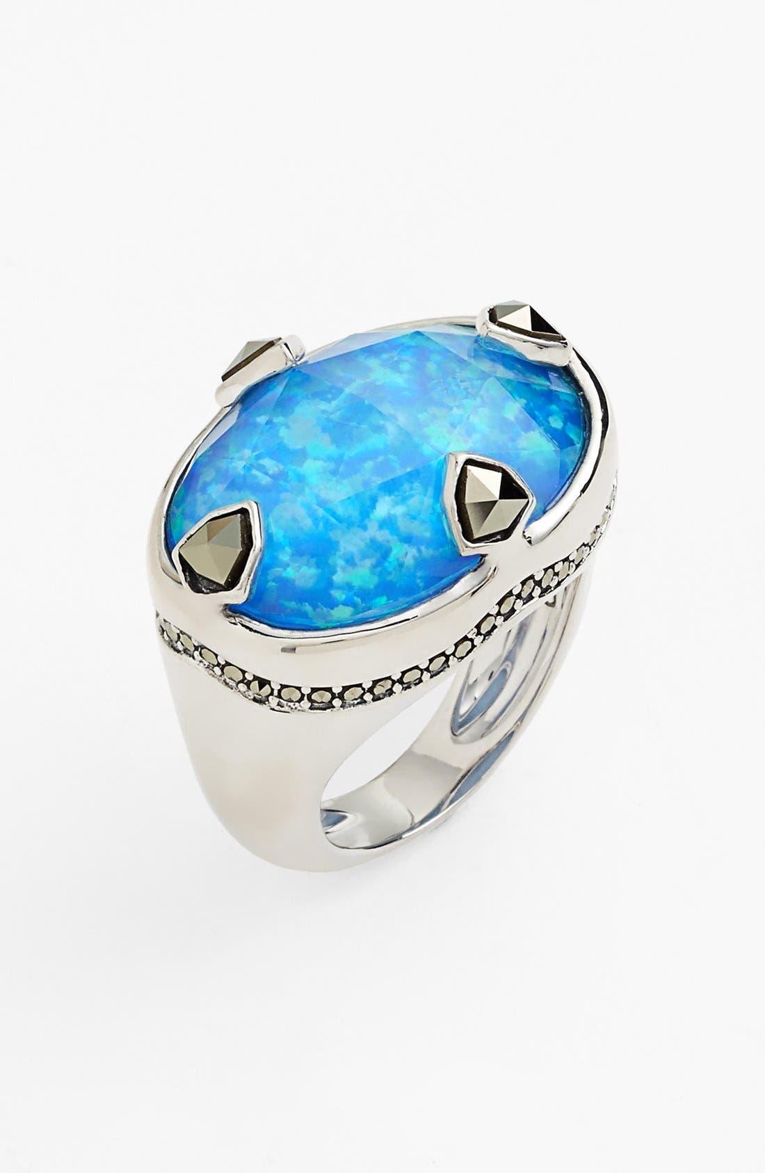 'Blue Sea' Stone Ring,                         Main,                         color, 040