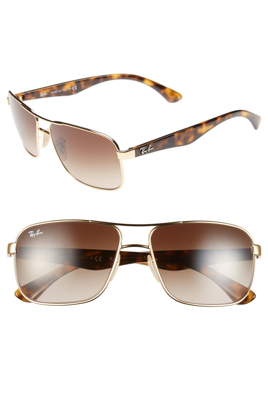 Ray-Ban 5m Pilot Sunglasses - Gold/ Brown