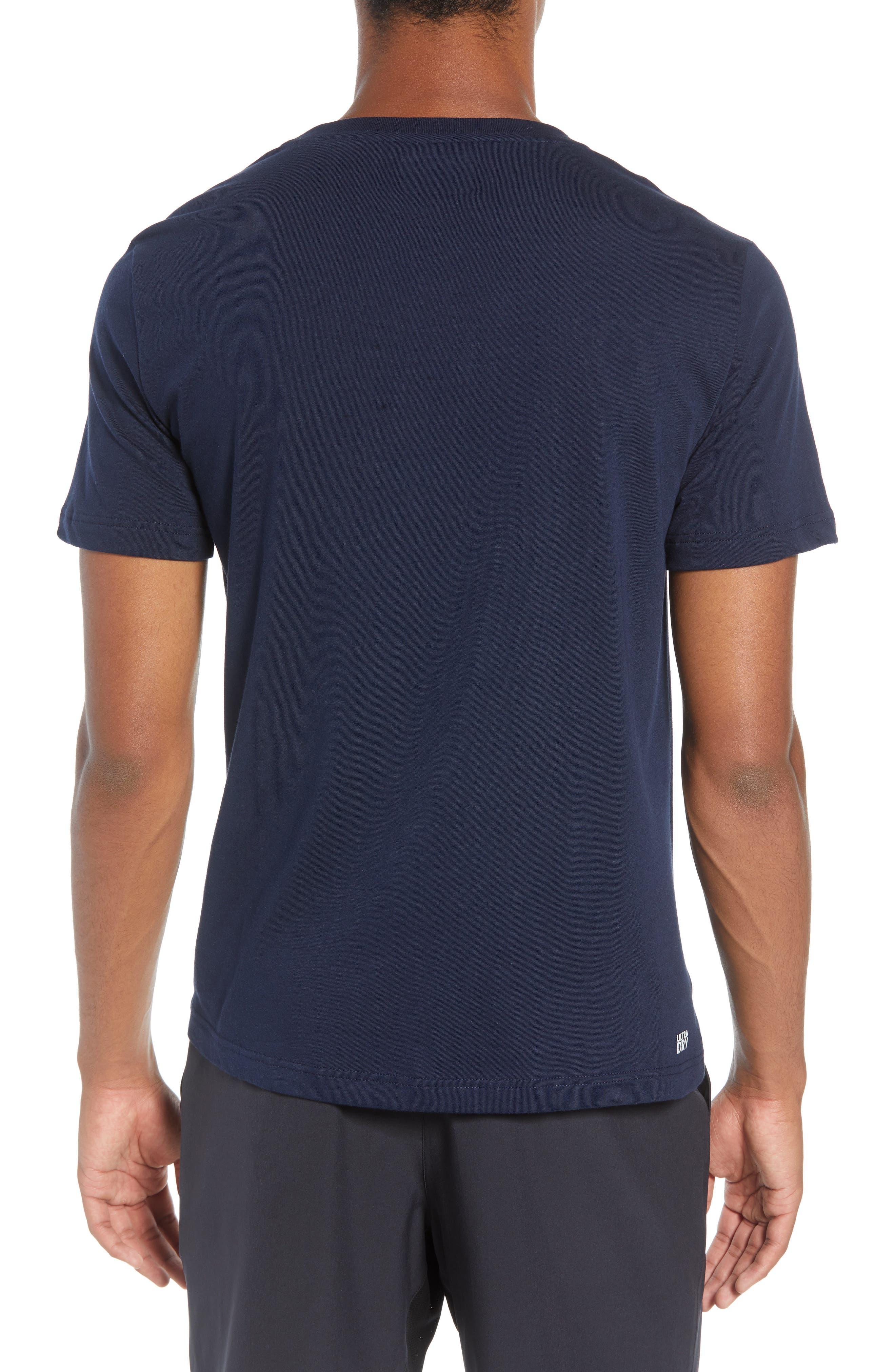 Tech Jersey Regular Fit Tee,                             Alternate thumbnail 2, color,                             NAVY BLUE/ WHITE