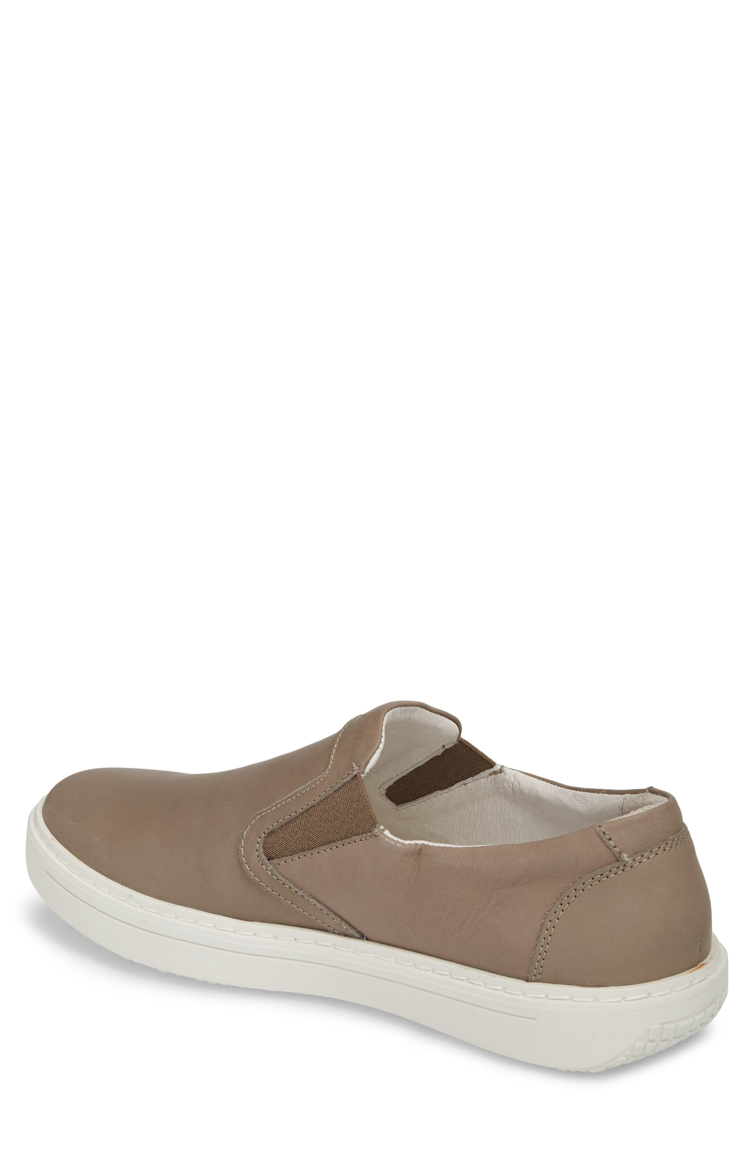 Quentin 15 Slip-On Sneaker,                             Alternate thumbnail 2, color,                             GRAY LEATHER