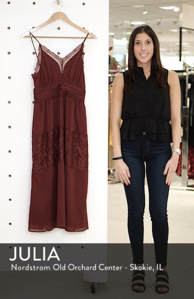 Lace Trim Midi Dress, sales video thumbnail