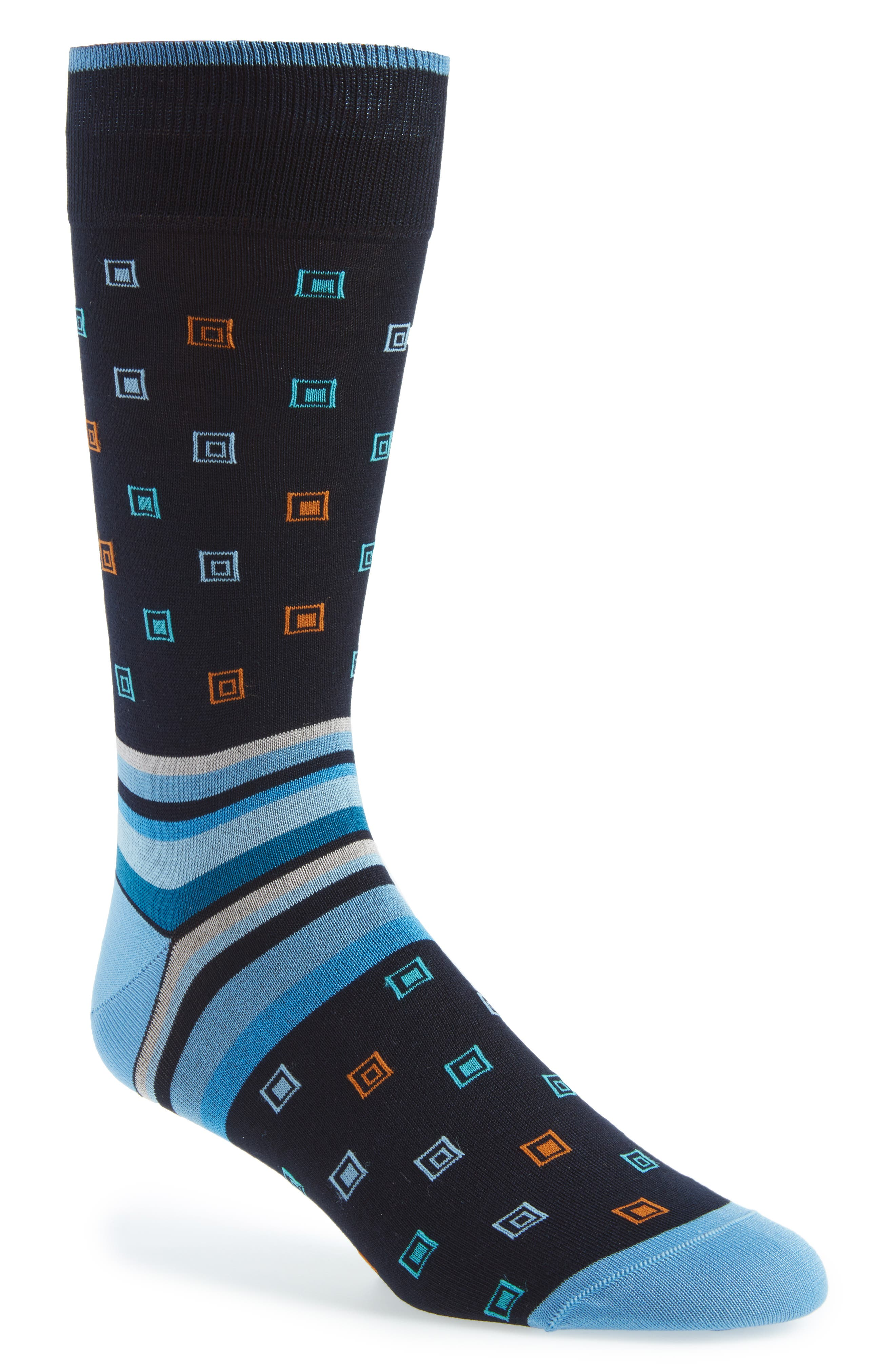 Geometric & Stripe Socks,                         Main,                         color, 411