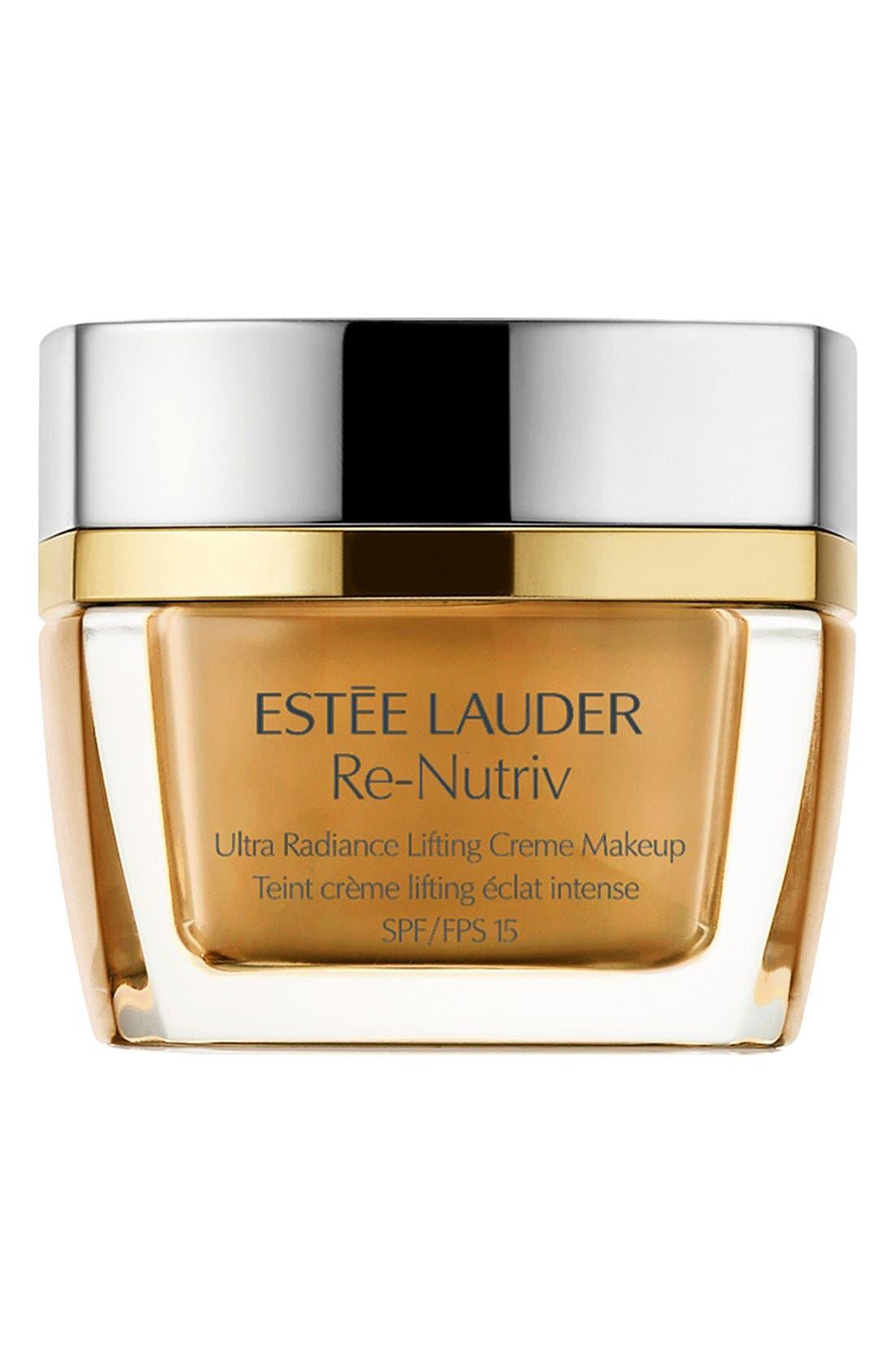ESTÉE LAUDER,                             Re-Nutriv Ultra Radiance Lifting Crème Makeup,                             Main thumbnail 1, color,                             CASHEW 3W2