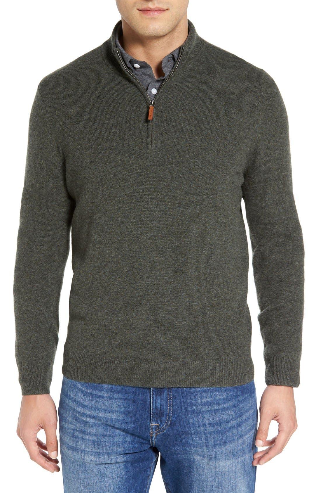 Cashmere Quarter Zip Sweater,                             Main thumbnail 5, color,