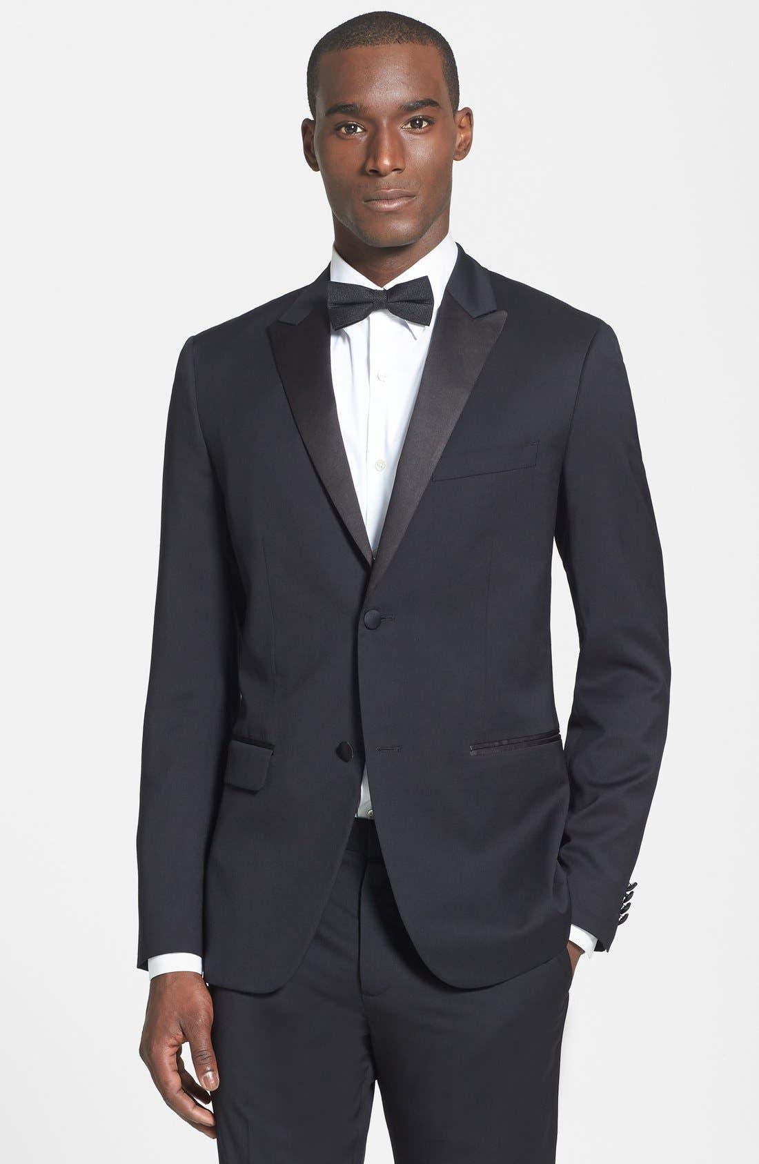 THEORY 'Wellar PE Hamburg' Tuxedo Jacket, Main, color, 001