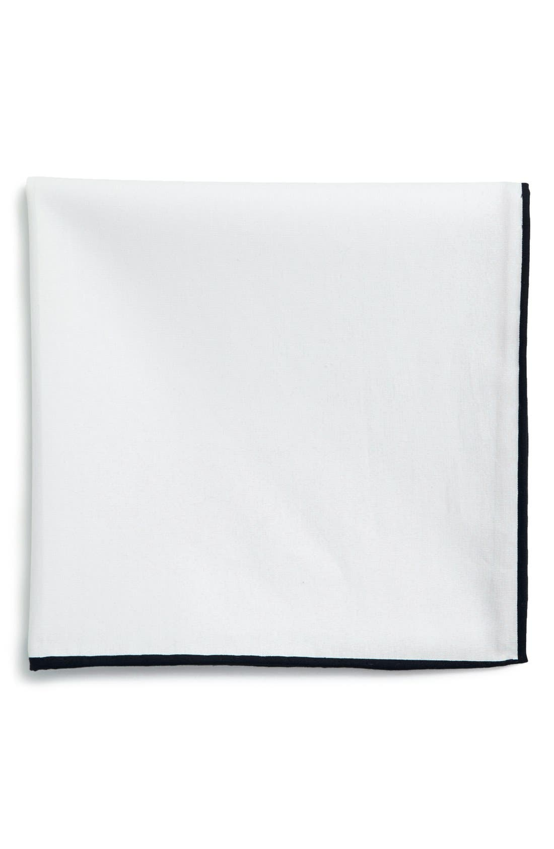 Cotton Solid Pocket Square,                             Main thumbnail 2, color,