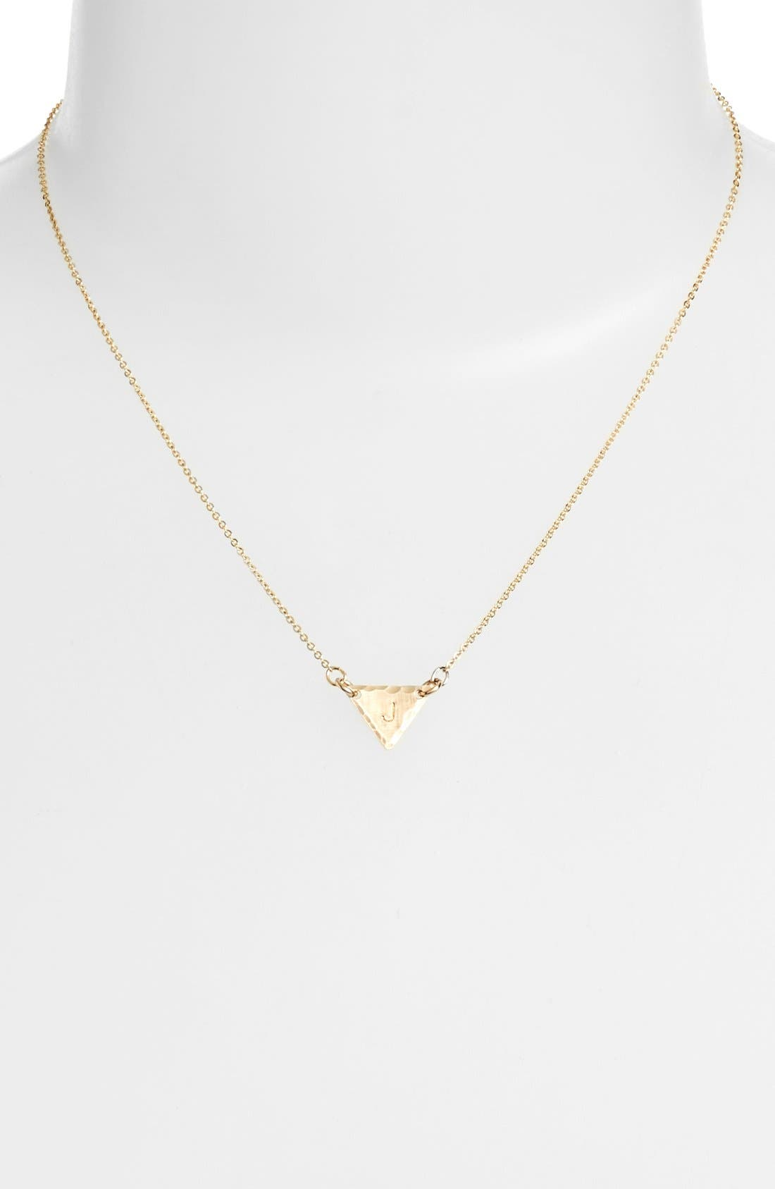 14k-Gold Fill Initial Triangle Necklace,                             Alternate thumbnail 36, color,