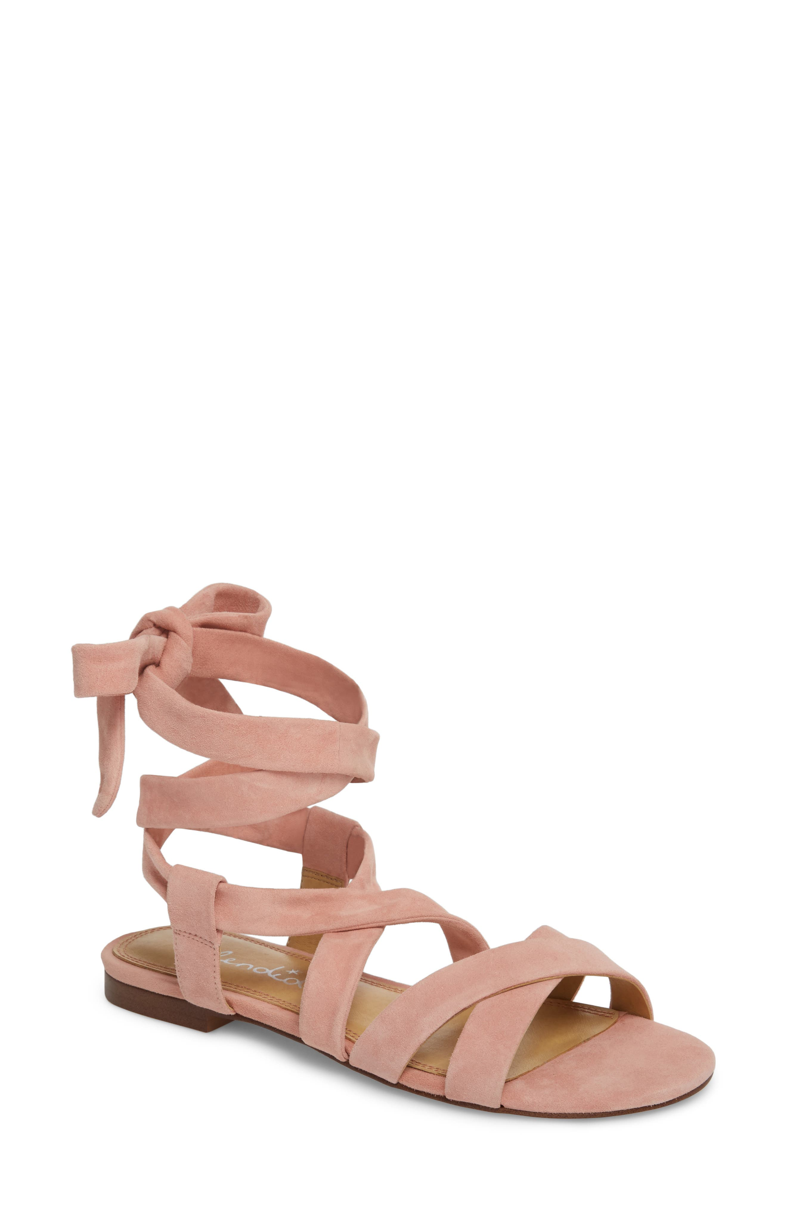 Splendid Feodora Ankle Wrap Sandal- Pink