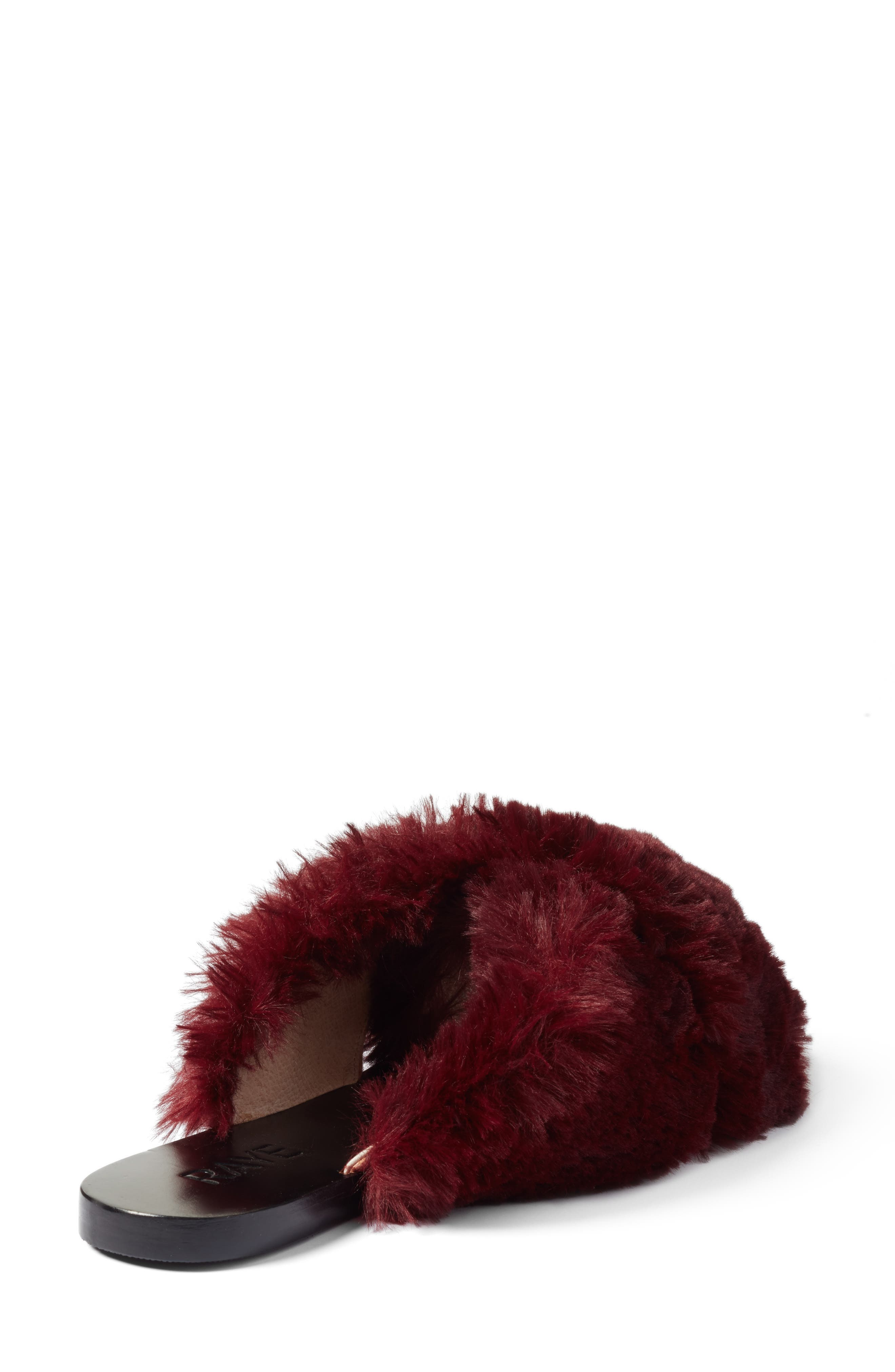 Sid Faux Fur Slide Sandal,                             Alternate thumbnail 2, color,                             930