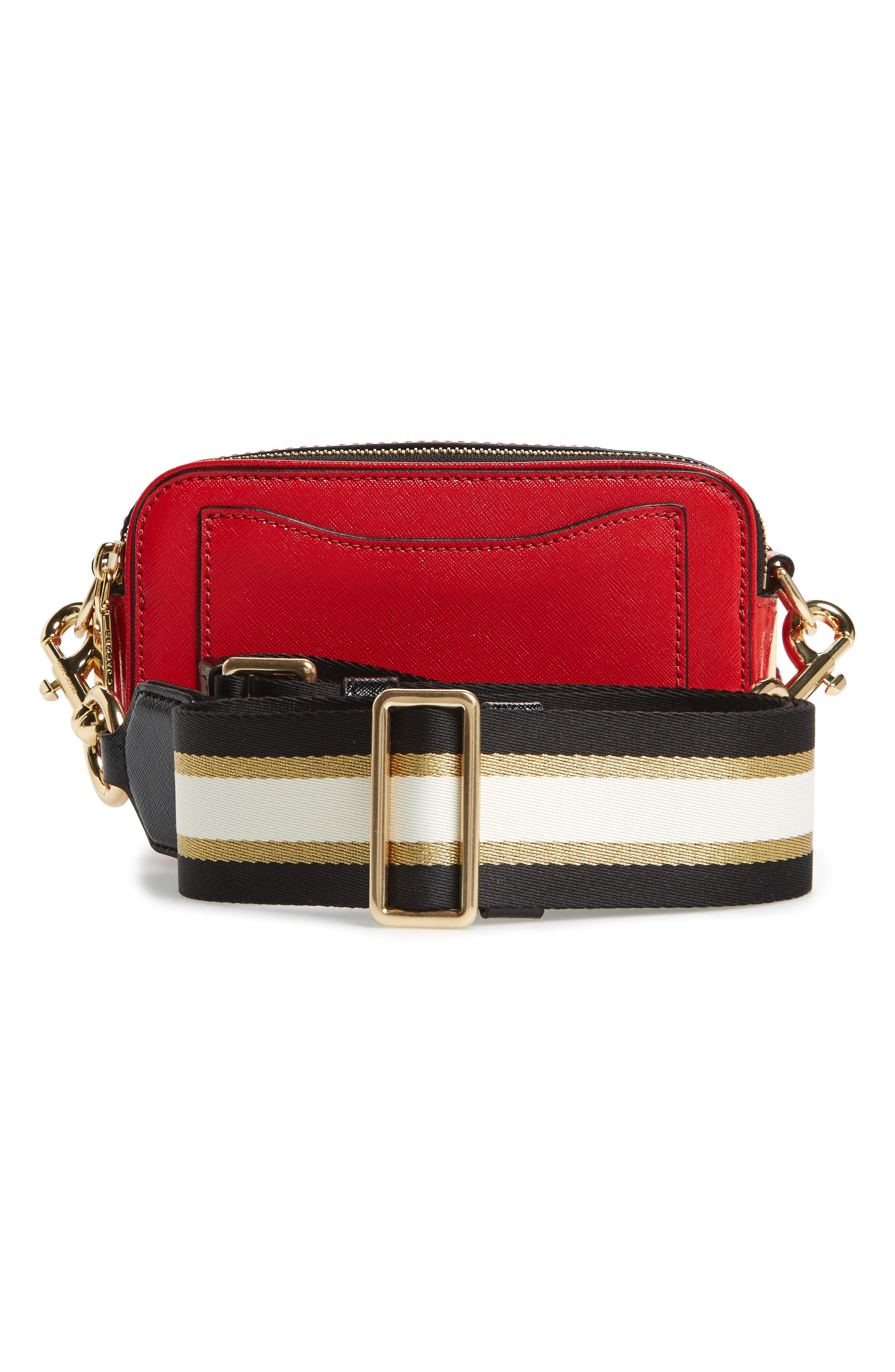 Snapshot Jacquard Crossbody Bag,                             Alternate thumbnail 3, color,                             RED