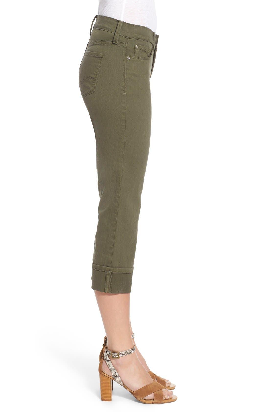 'Dayla' Colored Wide Cuff Capri Jeans,                             Alternate thumbnail 33, color,
