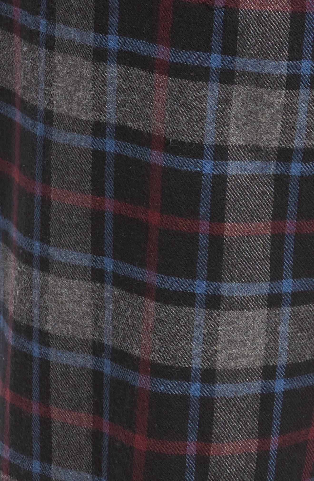 Pajama Set,                             Alternate thumbnail 5, color,                             BLACK ROCK- GREY PLAID