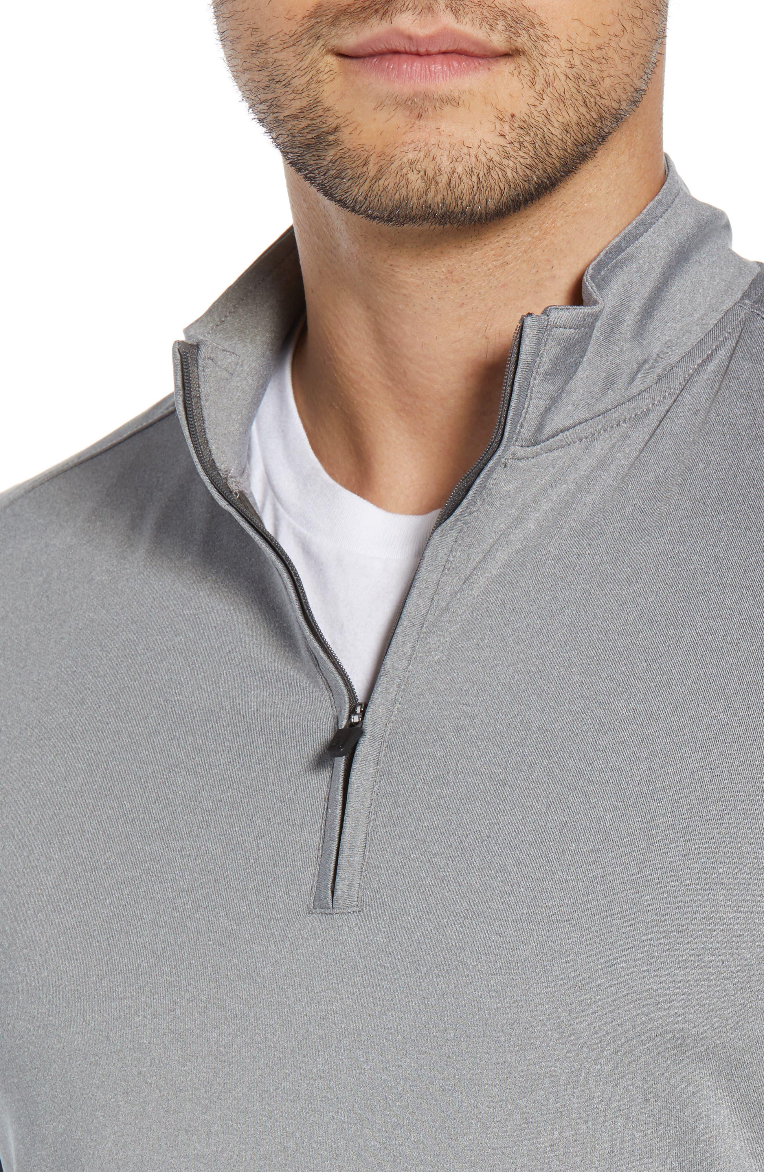 Flex Classic Fit Quarter Zip Pullover,                             Alternate thumbnail 4, color,                             METEOR